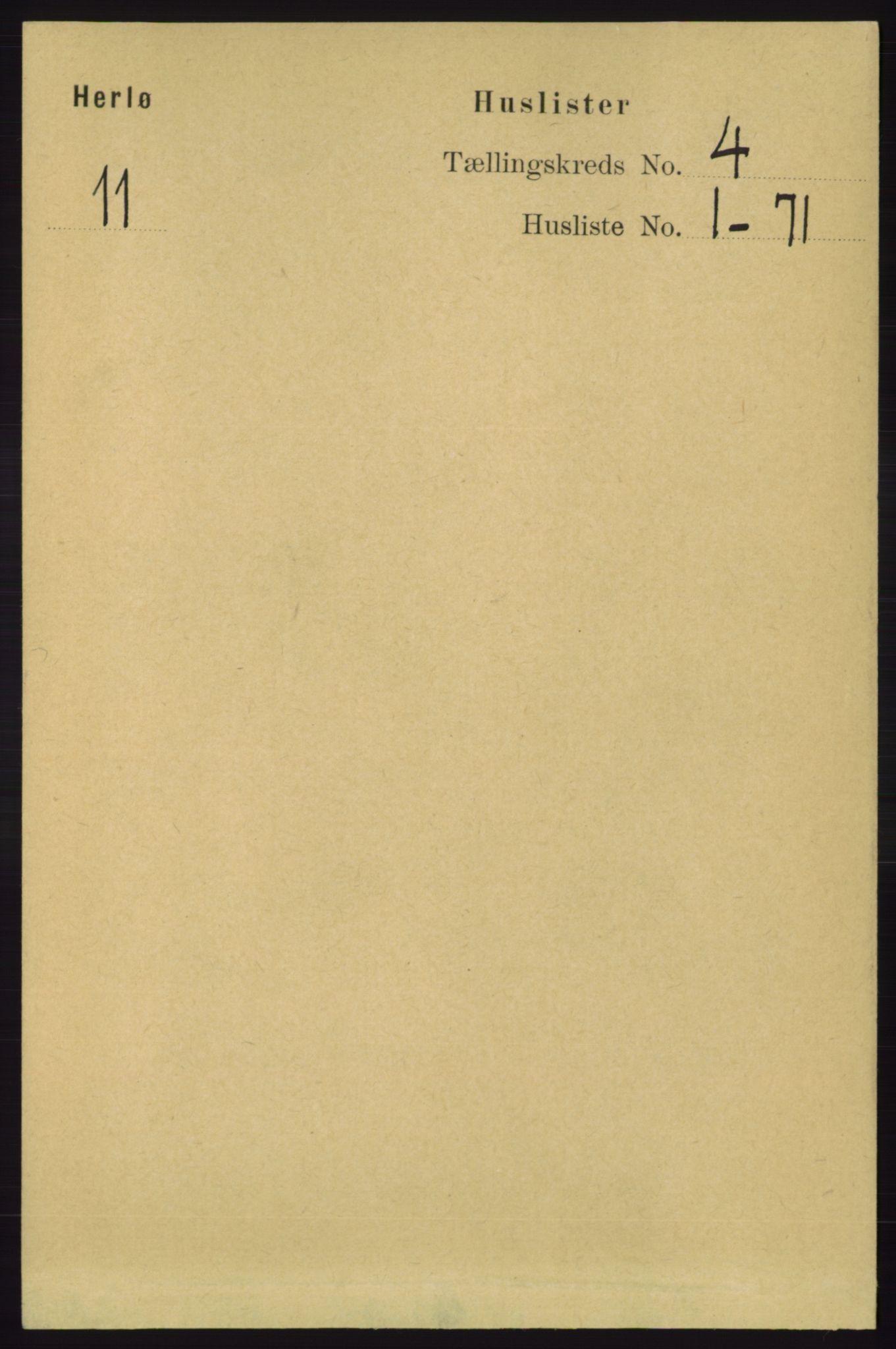 RA, Folketelling 1891 for 1258 Herdla herred, 1891, s. 1470