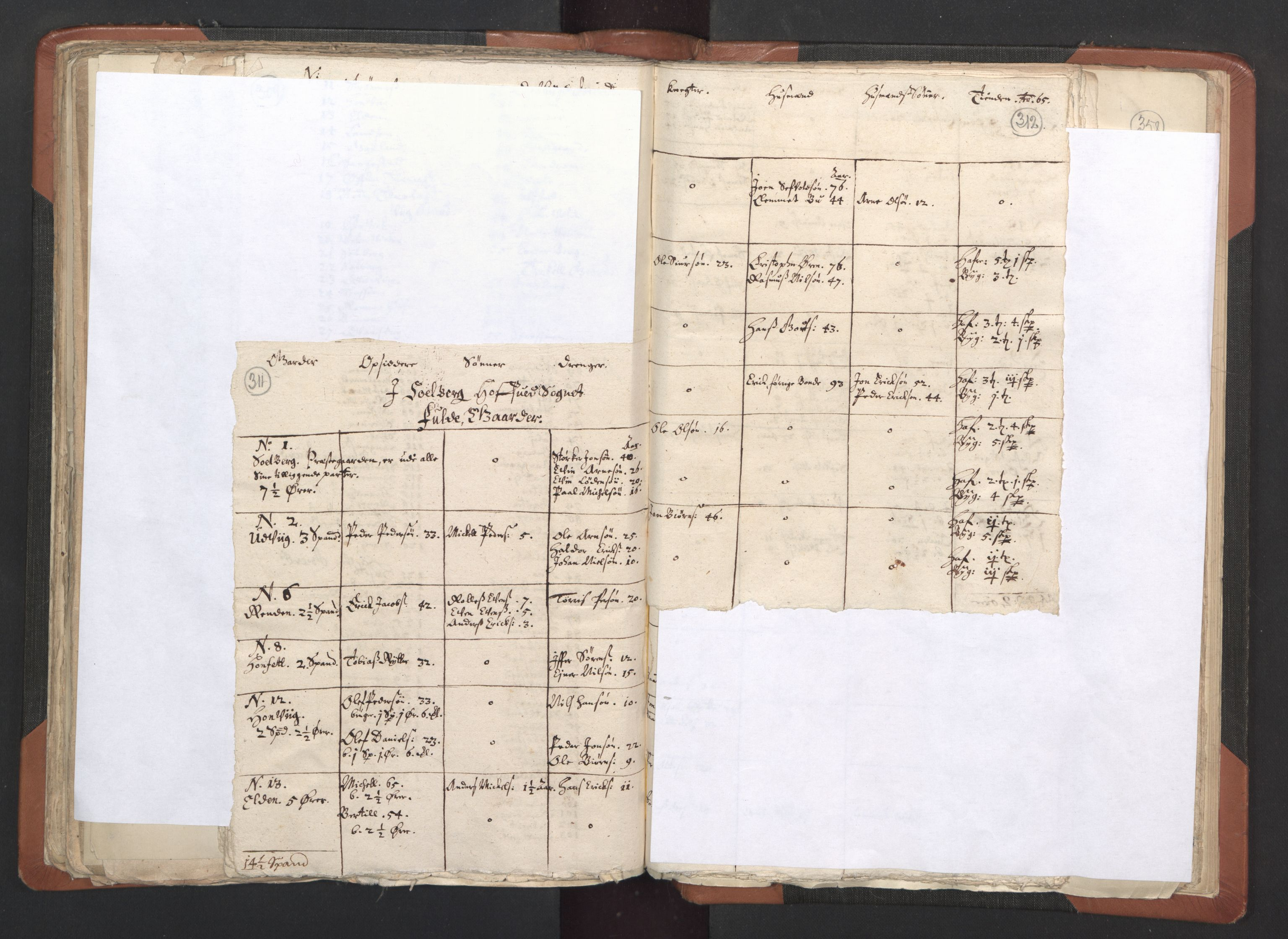 RA, Sogneprestenes manntall 1664-1666, nr. 33: Innherad prosti, 1664-1666, s. 311-312