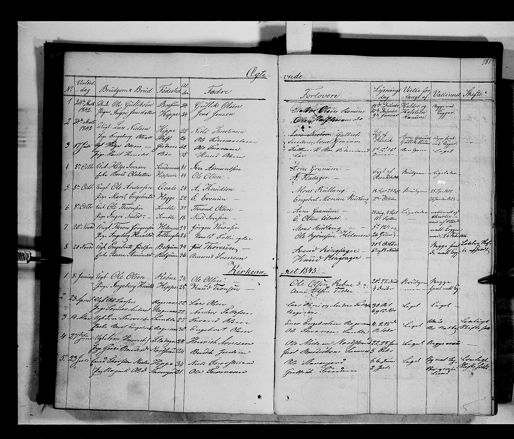 SAH, Nord-Aurdal prestekontor, Ministerialbok nr. 6, 1842-1863, s. 181
