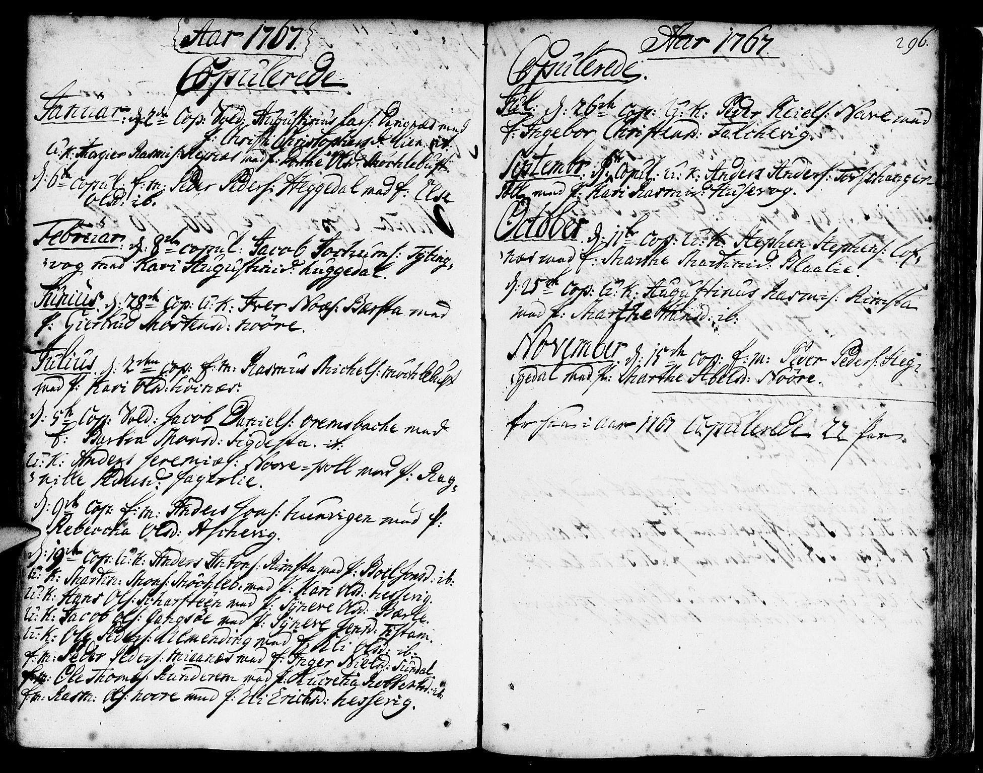 SAB, Davik Sokneprestembete, Ministerialbok nr. A 2, 1742-1816, s. 296