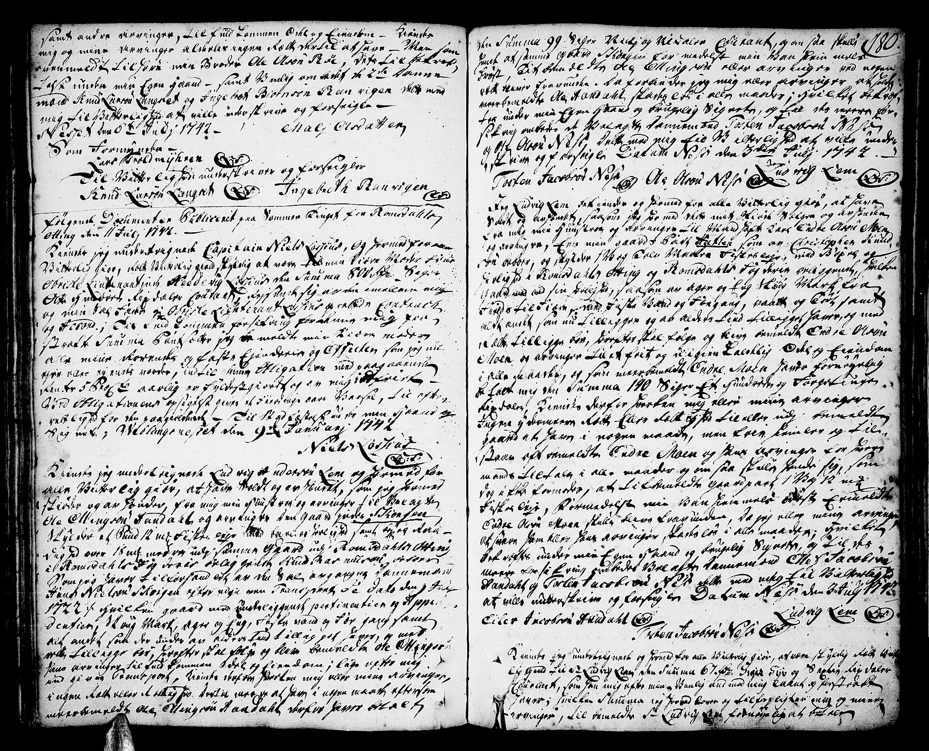 SAT, Romsdal sorenskriveri, 2/2C/L0002: Pantebok nr. 2, 1731-1745, s. 180
