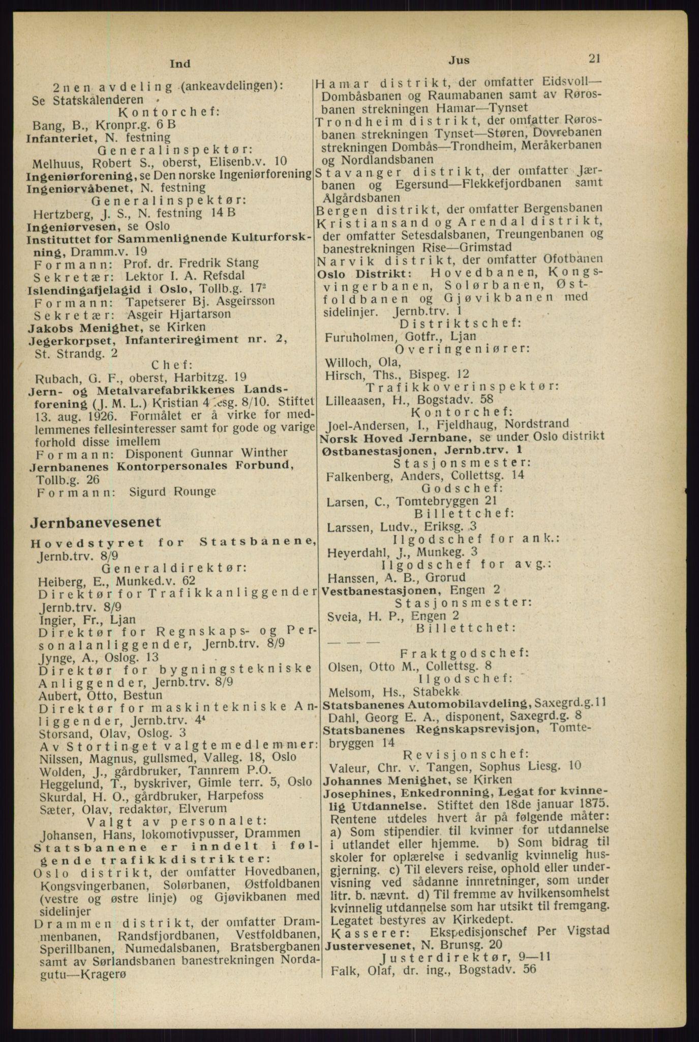 RA, Oslo adressebok (publikasjon)*, 1933, s. 21