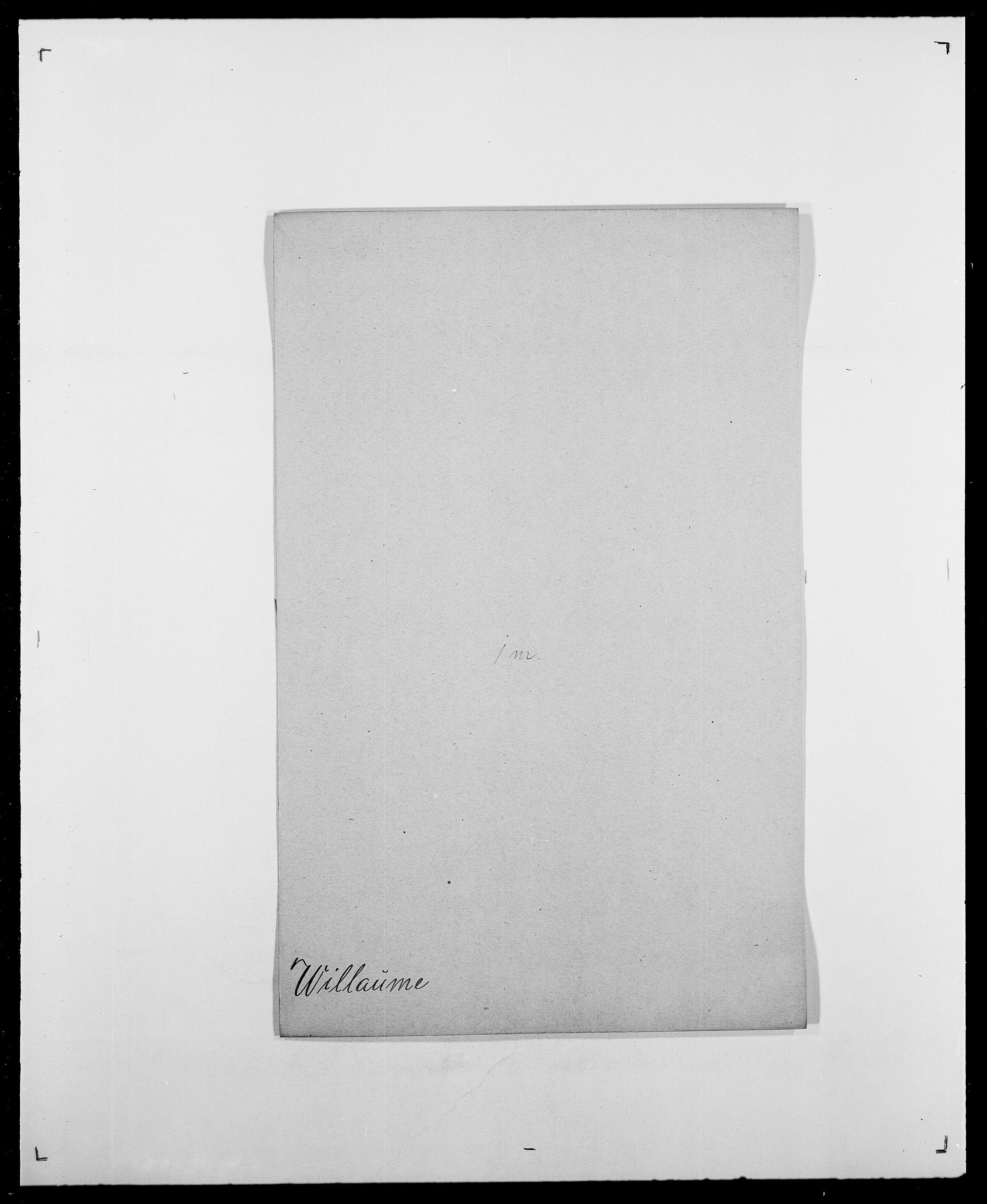SAO, Delgobe, Charles Antoine - samling, D/Da/L0042: Vilain - Wulf, Wulff, se også Wolf, s. 63