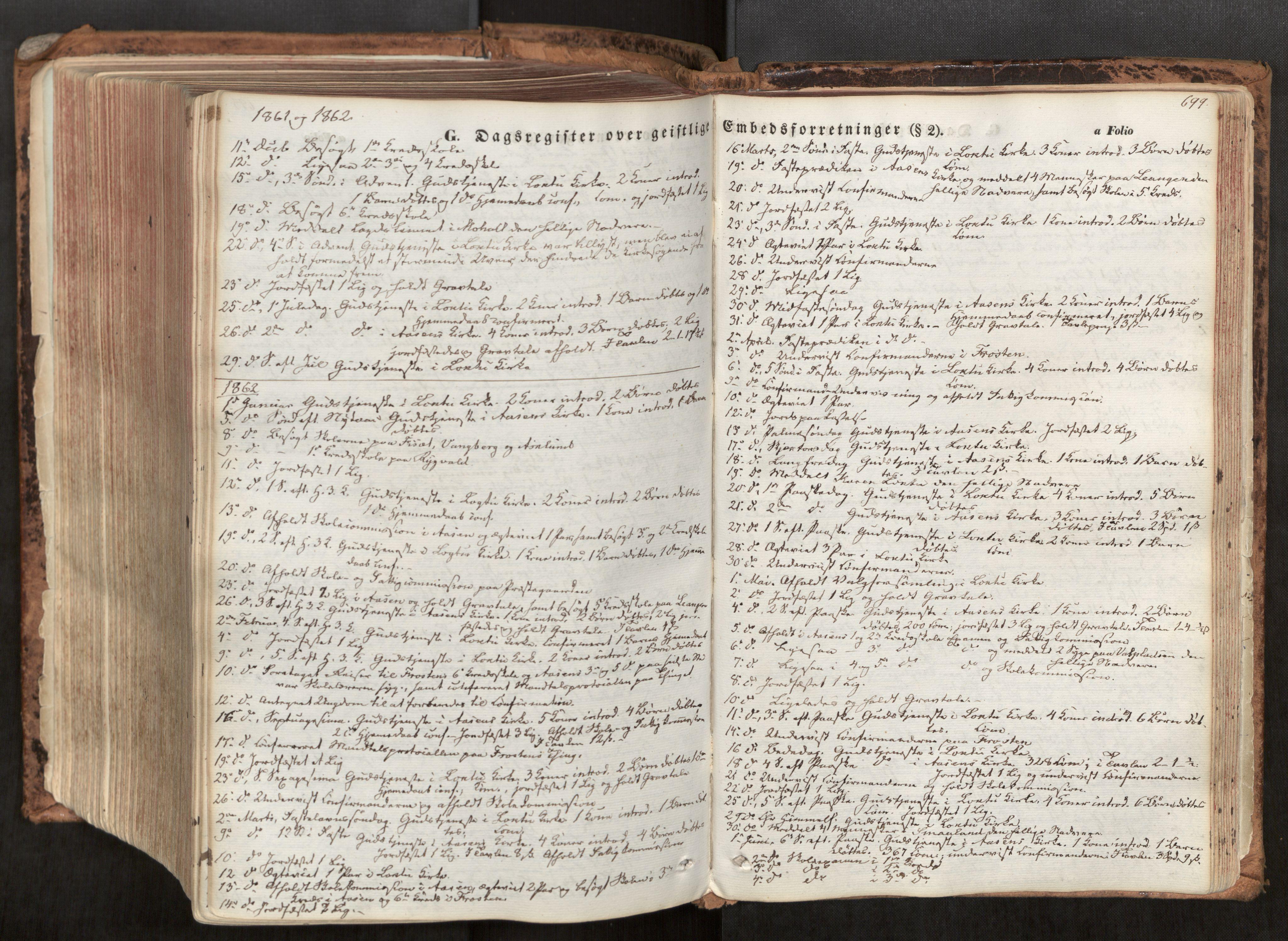 SAT, Ministerialprotokoller, klokkerbøker og fødselsregistre - Nord-Trøndelag, 713/L0116: Ministerialbok nr. 713A07, 1850-1877, s. 699