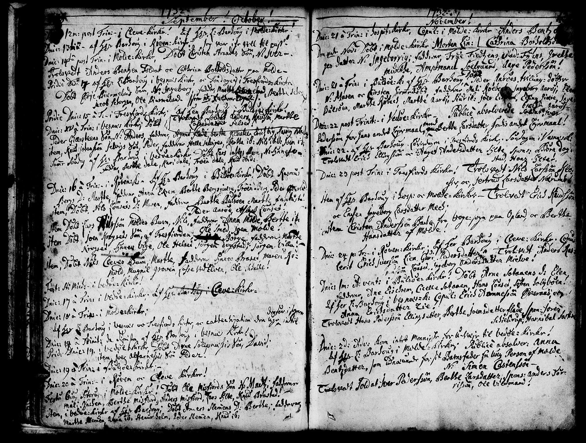 SAT, Ministerialprotokoller, klokkerbøker og fødselsregistre - Møre og Romsdal, 547/L0599: Ministerialbok nr. 547A01, 1721-1764, s. 130-131