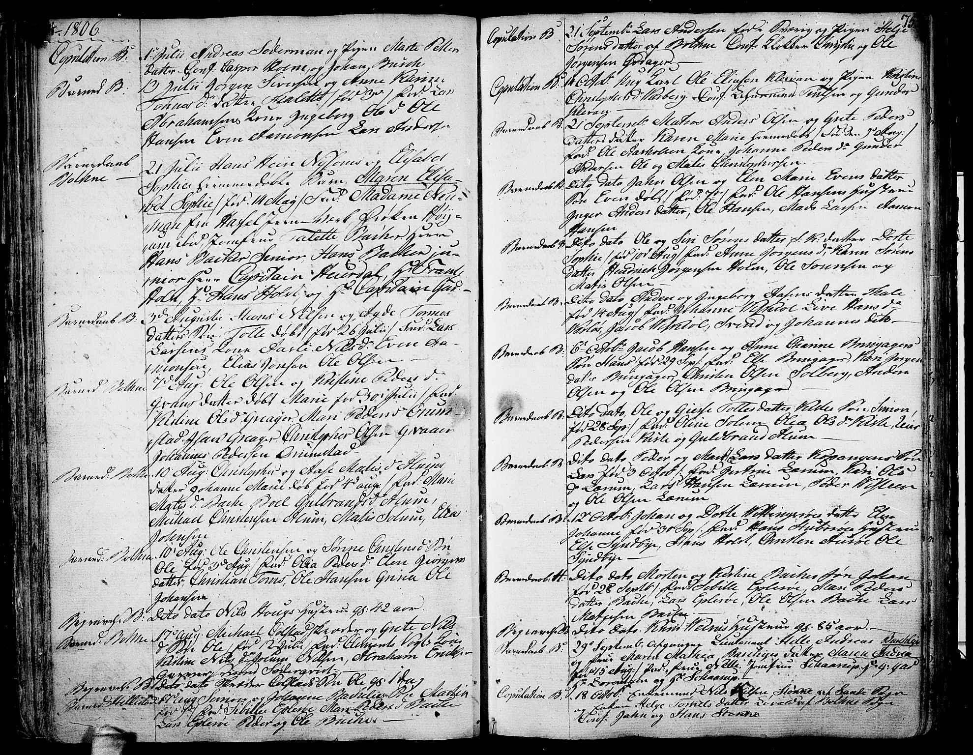 SAKO, Botne kirkebøker, F/Fa/L0003: Ministerialbok nr. I 3 /1, 1792-1844, s. 74-75