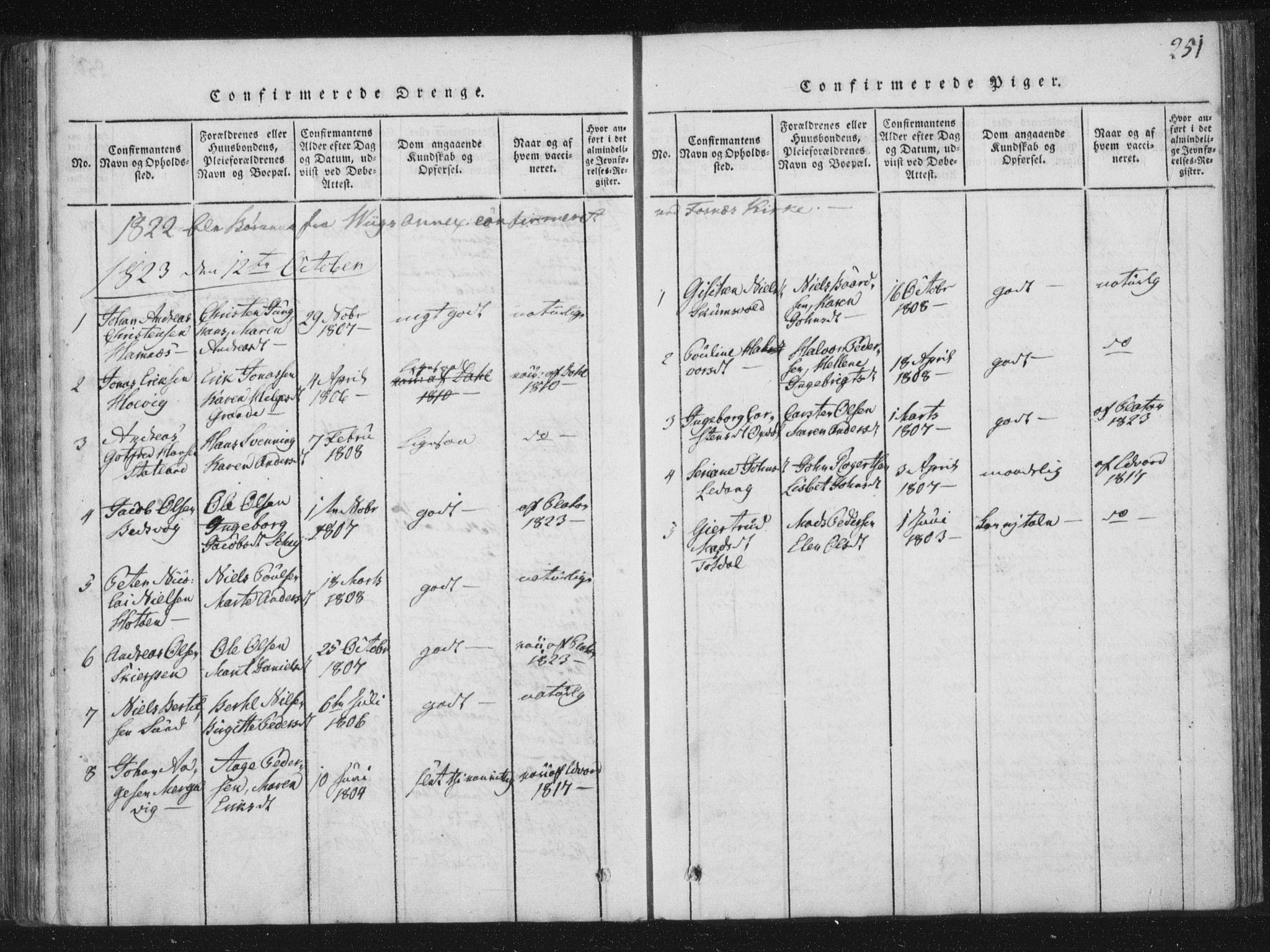 SAT, Ministerialprotokoller, klokkerbøker og fødselsregistre - Nord-Trøndelag, 773/L0609: Ministerialbok nr. 773A03 /2, 1815-1830, s. 251