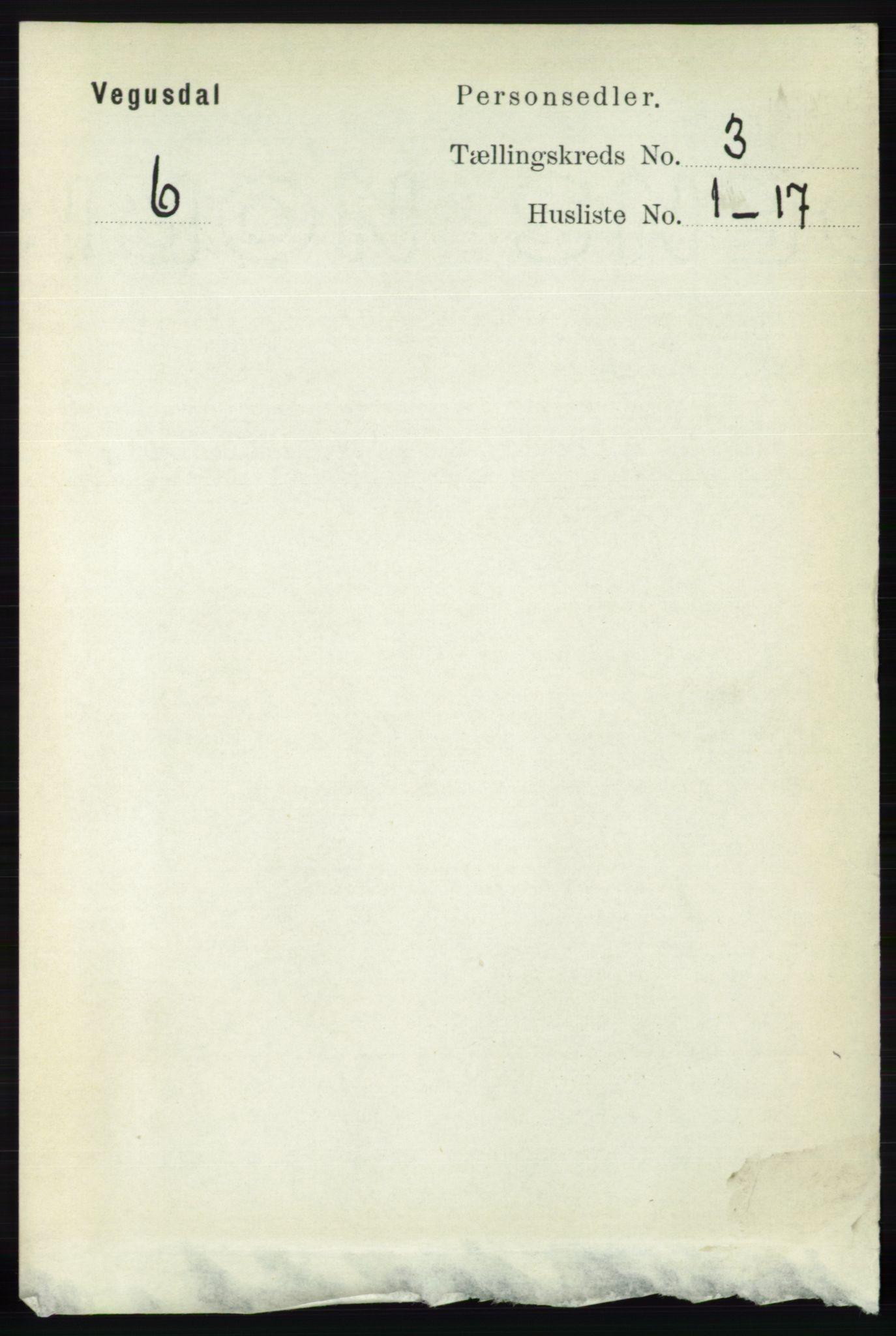 RA, Folketelling 1891 for 0934 Vegusdal herred, 1891, s. 552