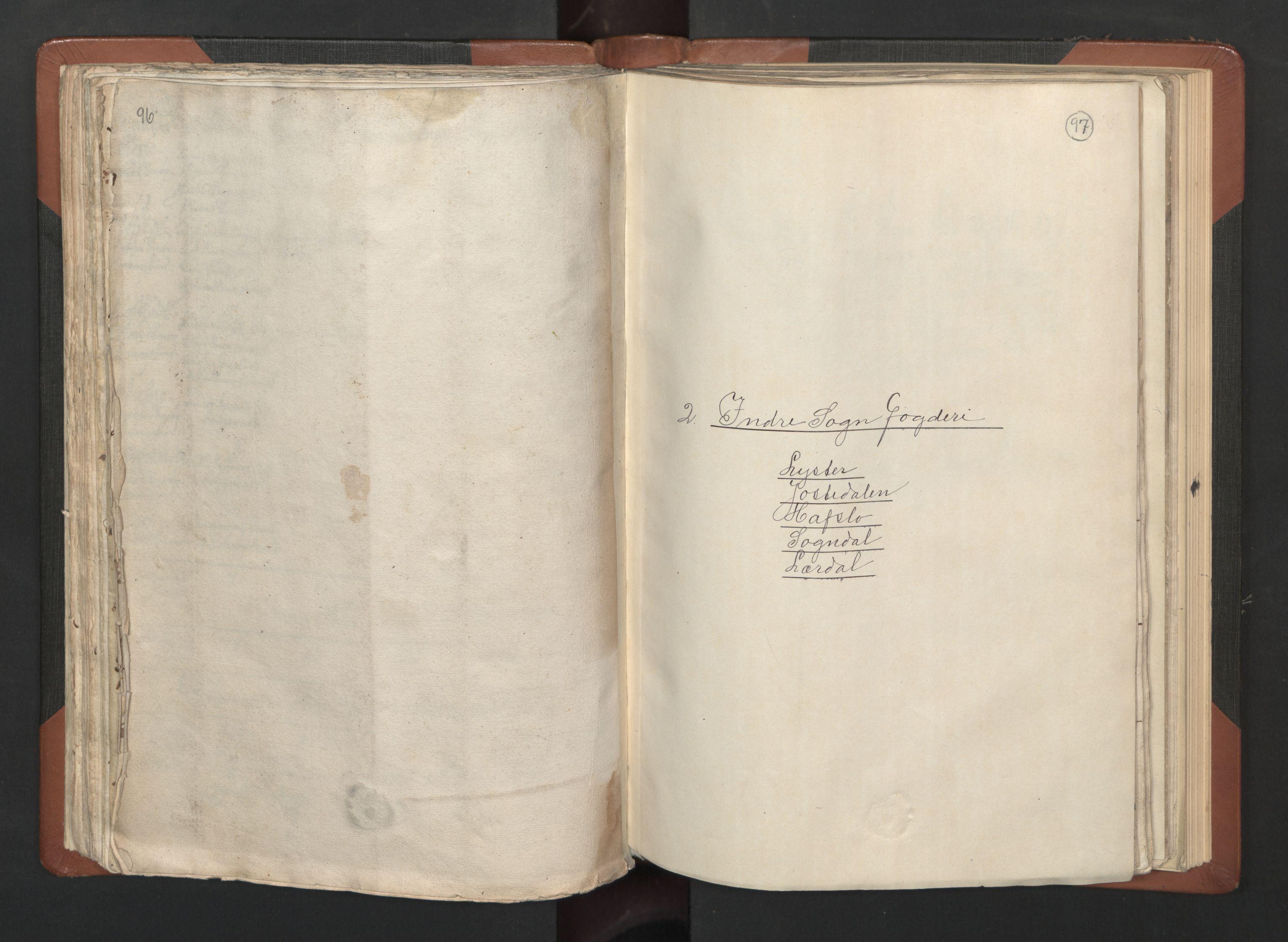 RA, Fogdenes og sorenskrivernes manntall 1664-1666, nr. 14: Hardanger len, Ytre Sogn fogderi og Indre Sogn fogderi, 1664-1665, s. 96-97