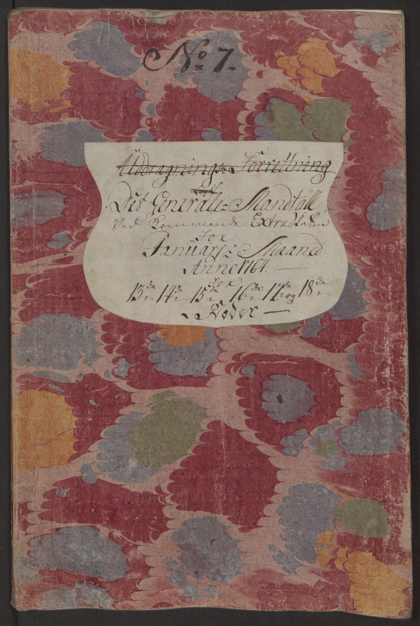 RA, Rentekammeret inntil 1814, Reviderte regnskaper, Byregnskaper, R/Rp/L0368: [P21] Kontribusjonsregnskap, 1764, s. 16