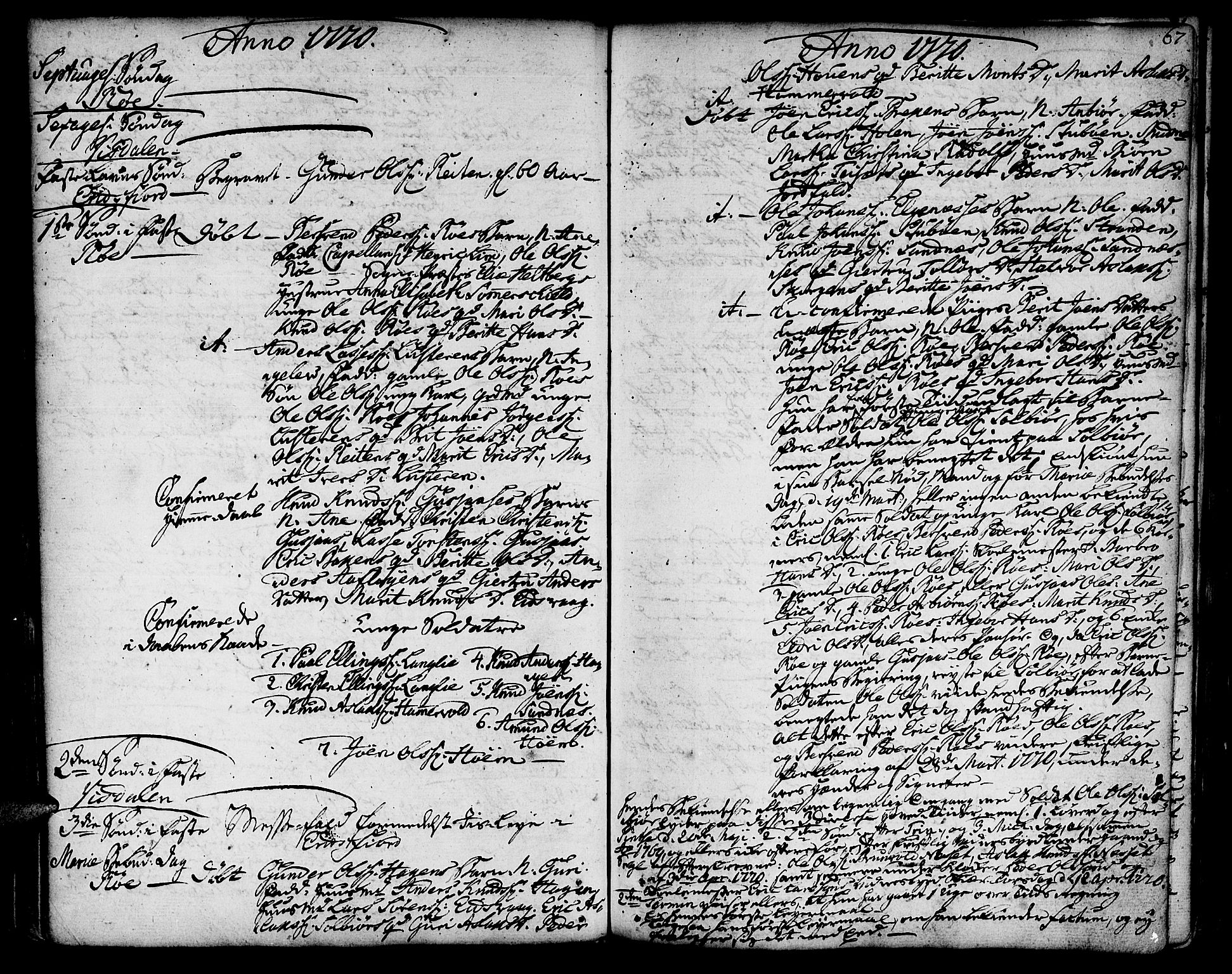 SAT, Ministerialprotokoller, klokkerbøker og fødselsregistre - Møre og Romsdal, 551/L0621: Ministerialbok nr. 551A01, 1757-1803, s. 67