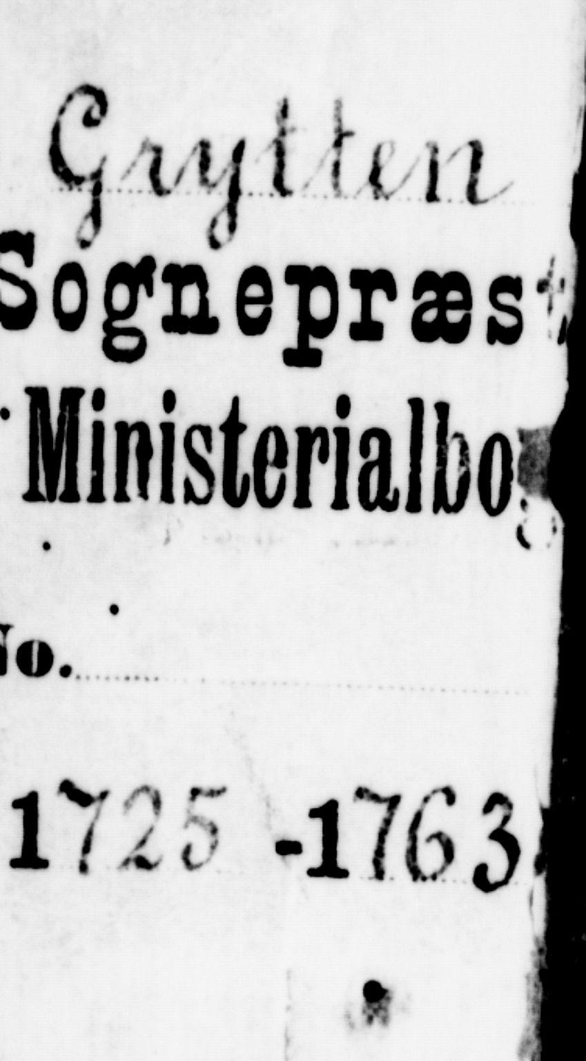 SAT, Ministerialprotokoller, klokkerbøker og fødselsregistre - Møre og Romsdal, 544/L0568: Ministerialbok nr. 544A01, 1725-1763