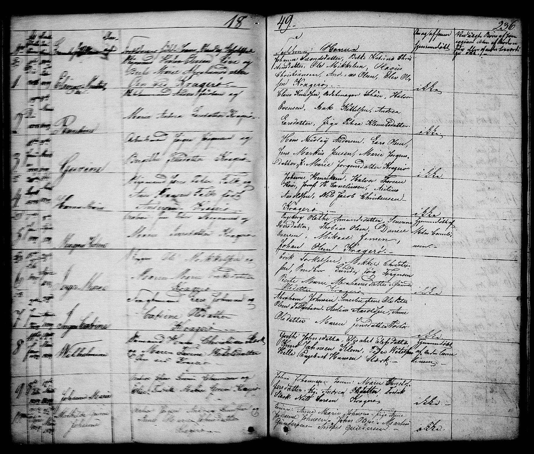 SAKO, Kragerø kirkebøker, G/Ga/L0003: Klokkerbok nr. 3, 1832-1852, s. 236