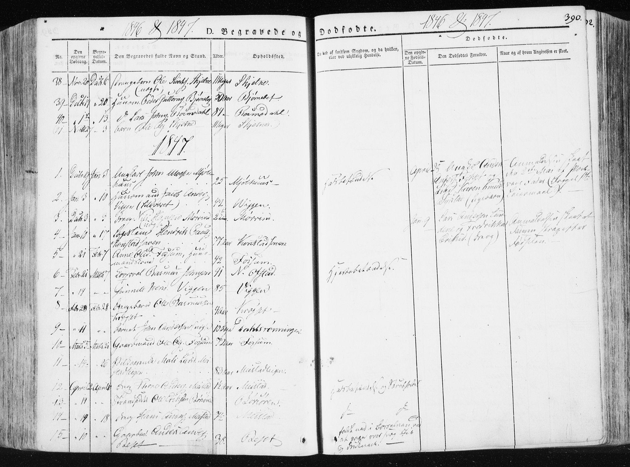 SAT, Ministerialprotokoller, klokkerbøker og fødselsregistre - Sør-Trøndelag, 665/L0771: Ministerialbok nr. 665A06, 1830-1856, s. 390
