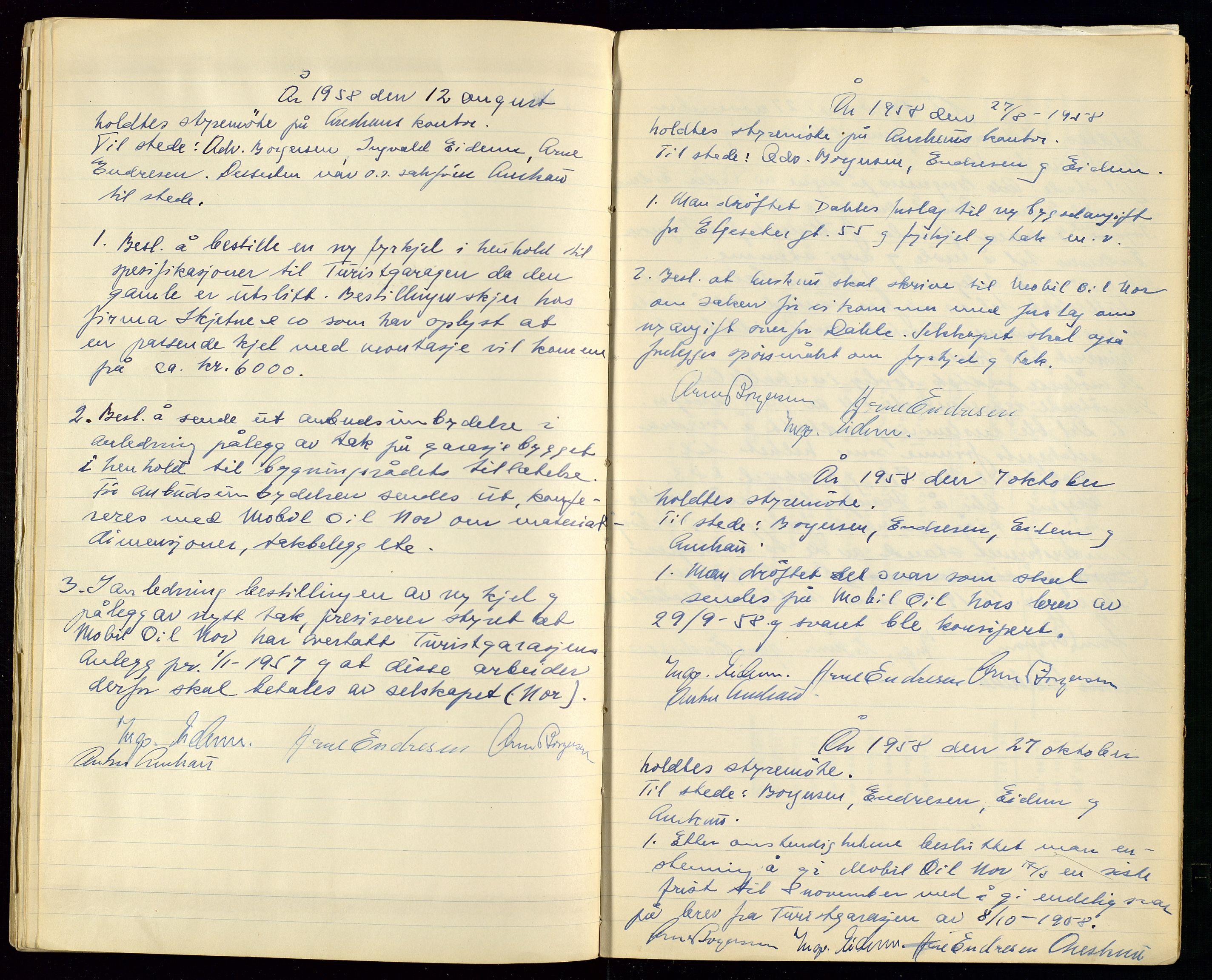 SAST, PA 1515 - Turistgarasjen A/S, A/L0001: Forhandlingsprotokoll, 1937-1958, s. 47