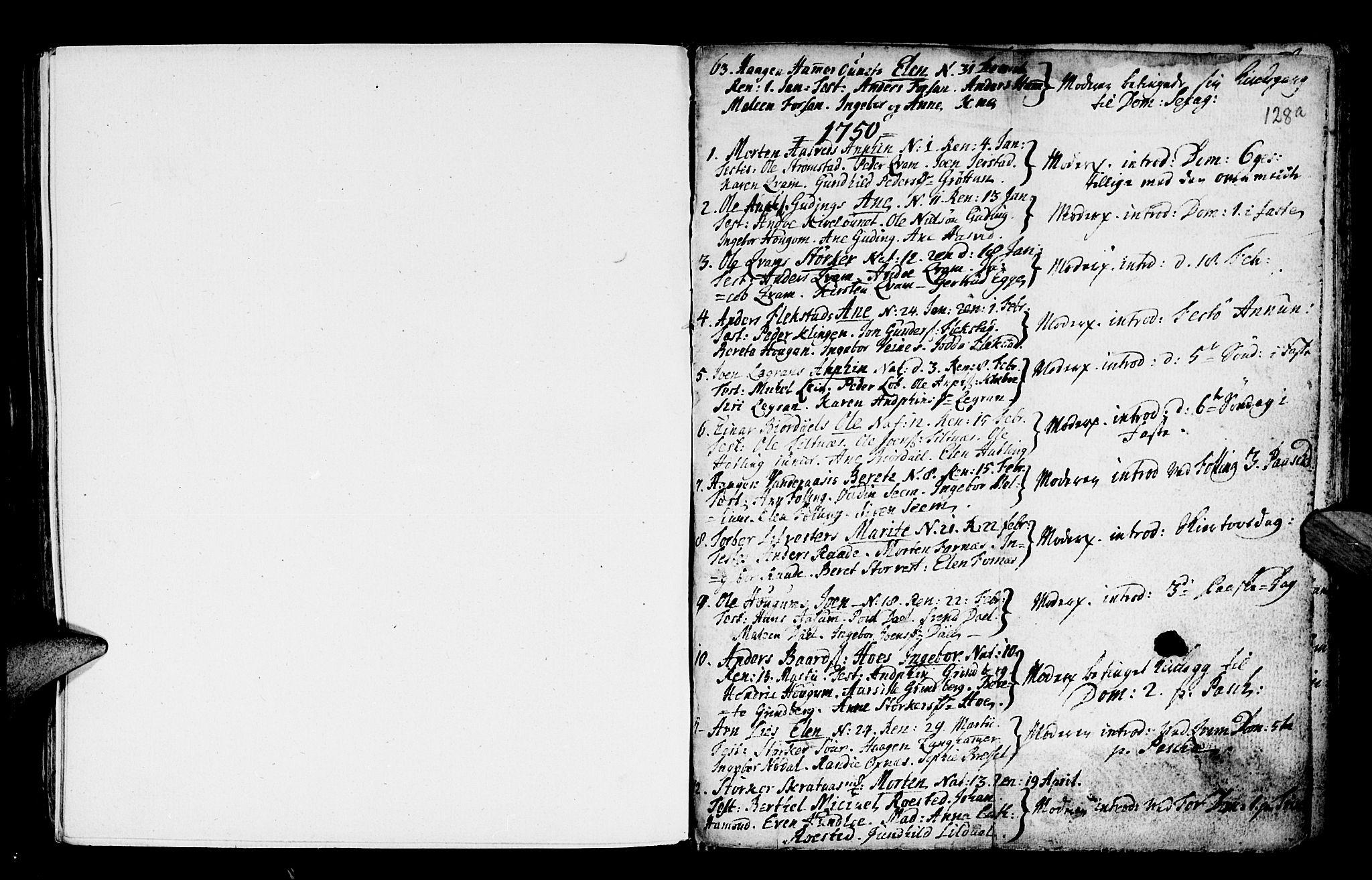SAT, Ministerialprotokoller, klokkerbøker og fødselsregistre - Nord-Trøndelag, 746/L0439: Ministerialbok nr. 746A01, 1688-1759, s. 128a