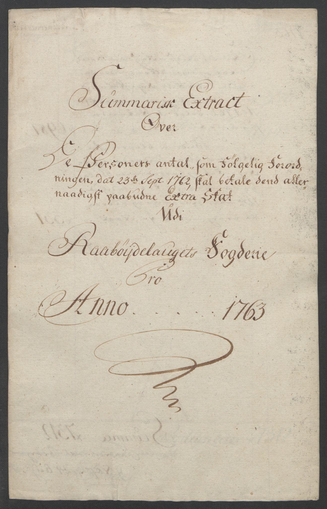 RA, Rentekammeret inntil 1814, Reviderte regnskaper, Fogderegnskap, R40/L2517: Ekstraskatten Råbyggelag, 1762-1763, s. 290
