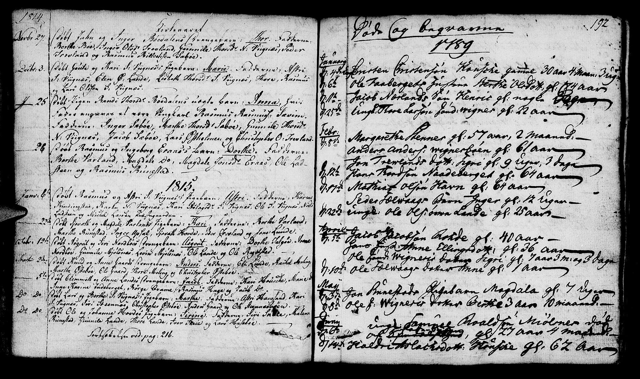 SAST, Finnøy sokneprestkontor, H/Ha/Haa/L0005: Ministerialbok nr. A 5, 1773-1816, s. 192