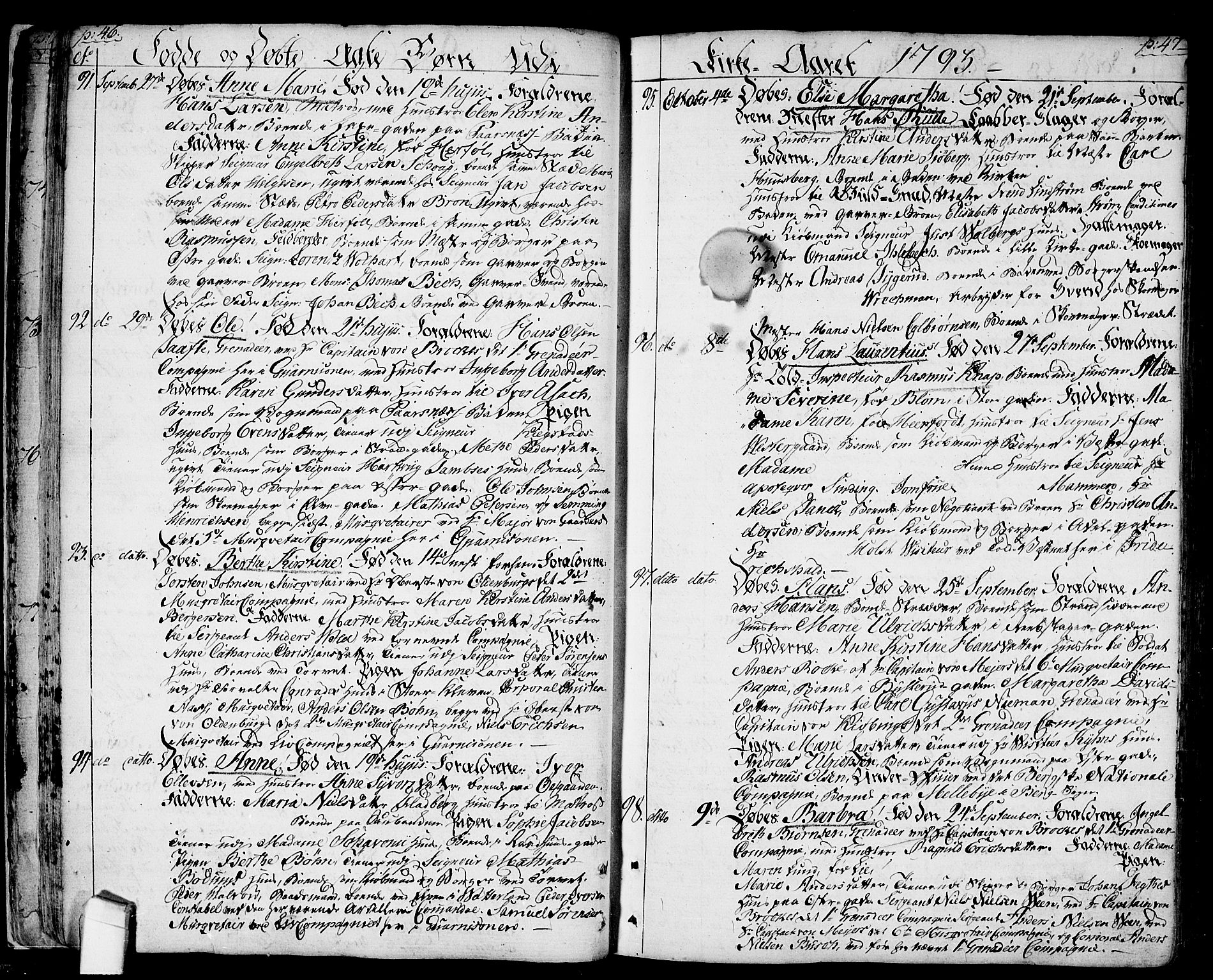 SAO, Halden prestekontor Kirkebøker, F/Fa/L0002: Ministerialbok nr. I 2, 1792-1812, s. 46-47