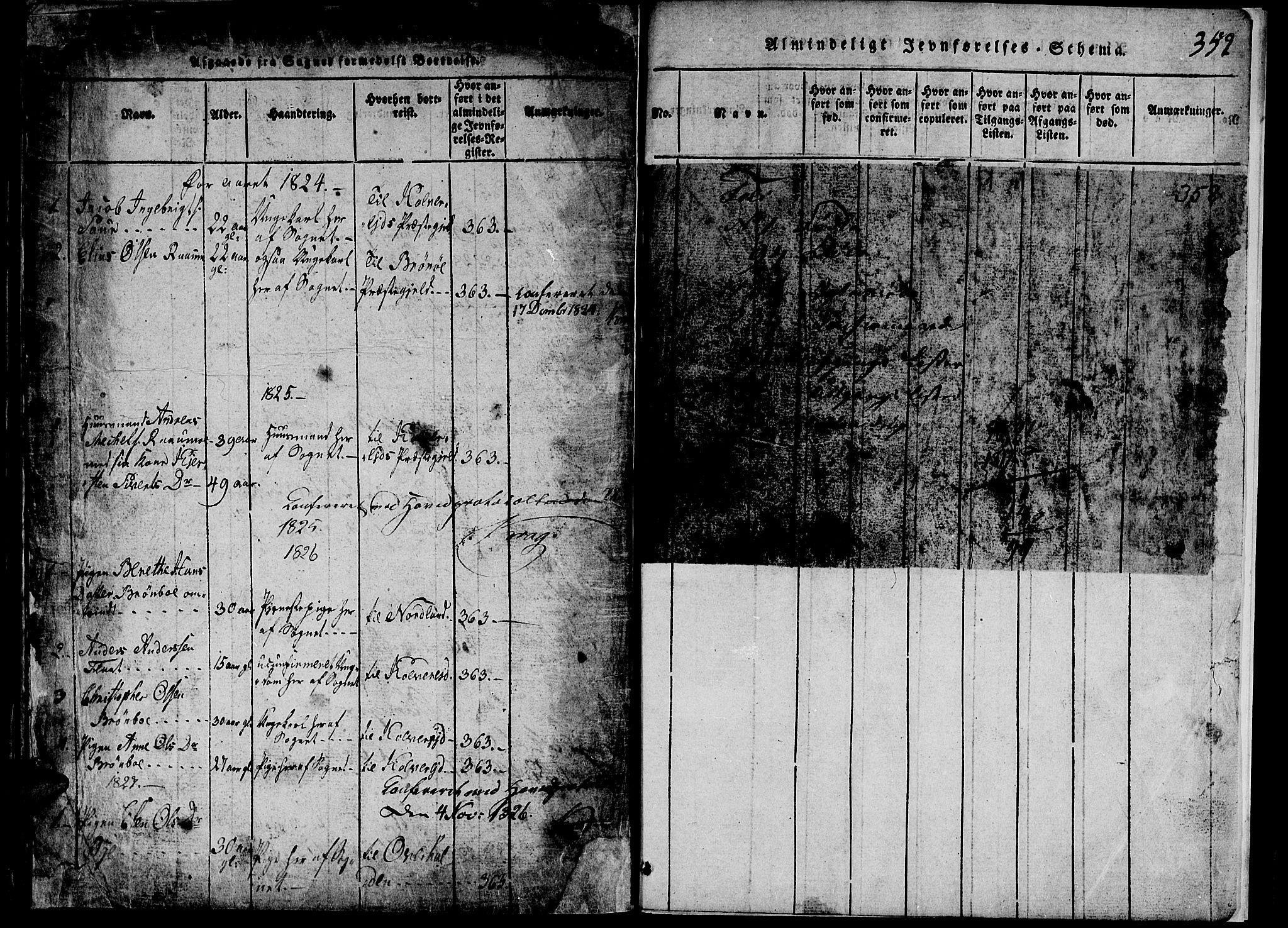 SAT, Ministerialprotokoller, klokkerbøker og fødselsregistre - Nord-Trøndelag, 765/L0562: Klokkerbok nr. 765C01, 1817-1851, s. 359