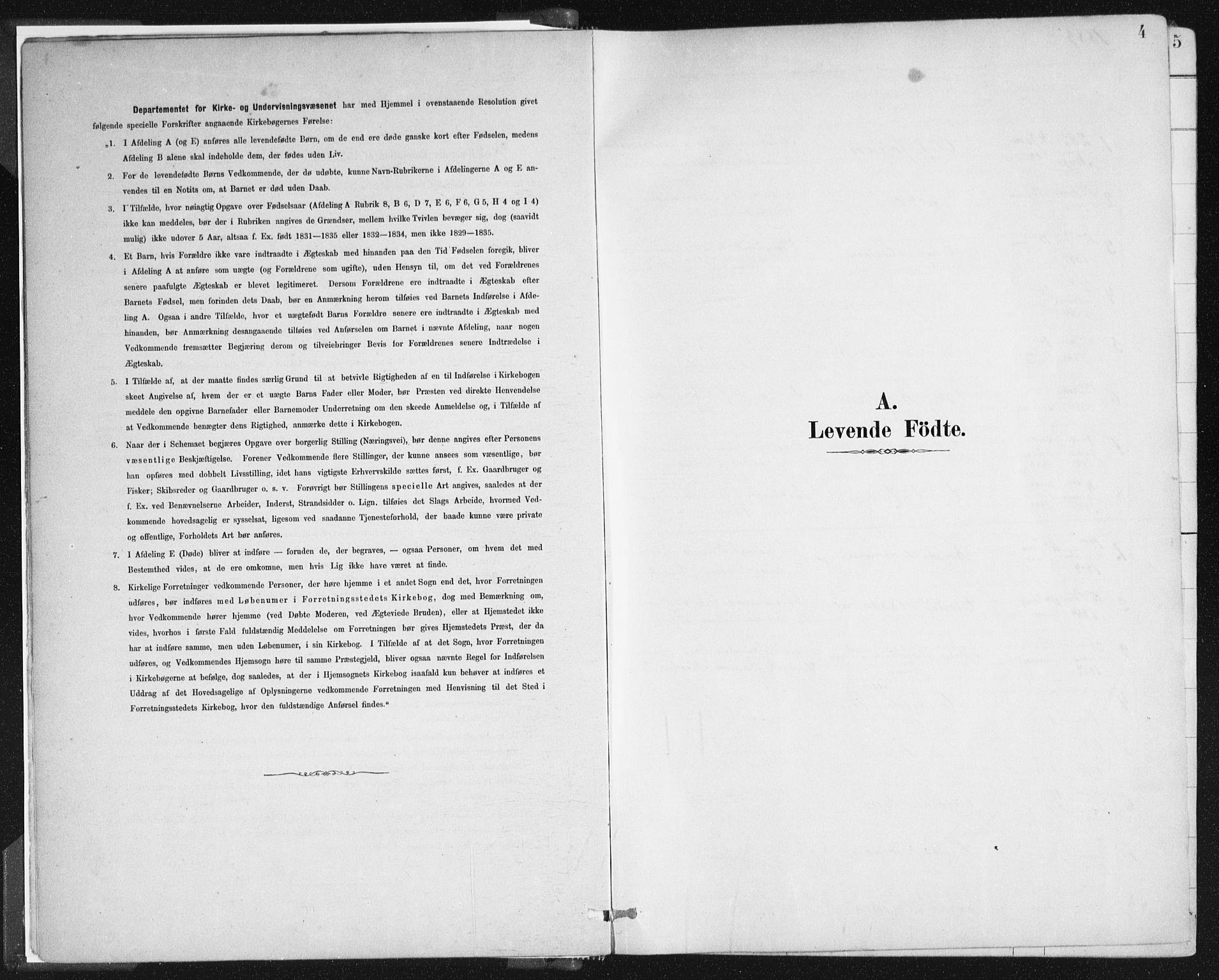 SAB, Johanneskirken Sokneprestembete, H/Haa/L0001: Ministerialbok nr. A 1, 1885-1900, s. 4