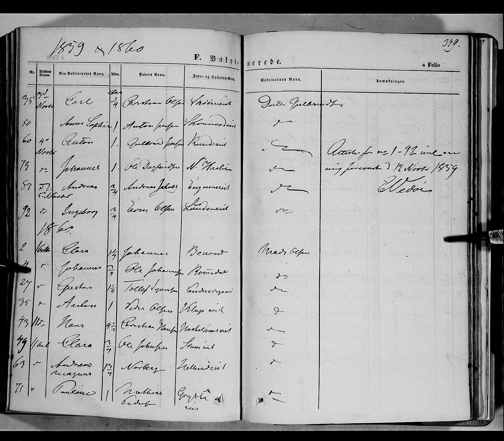 SAH, Biri prestekontor, Ministerialbok nr. 5, 1843-1854, s. 349
