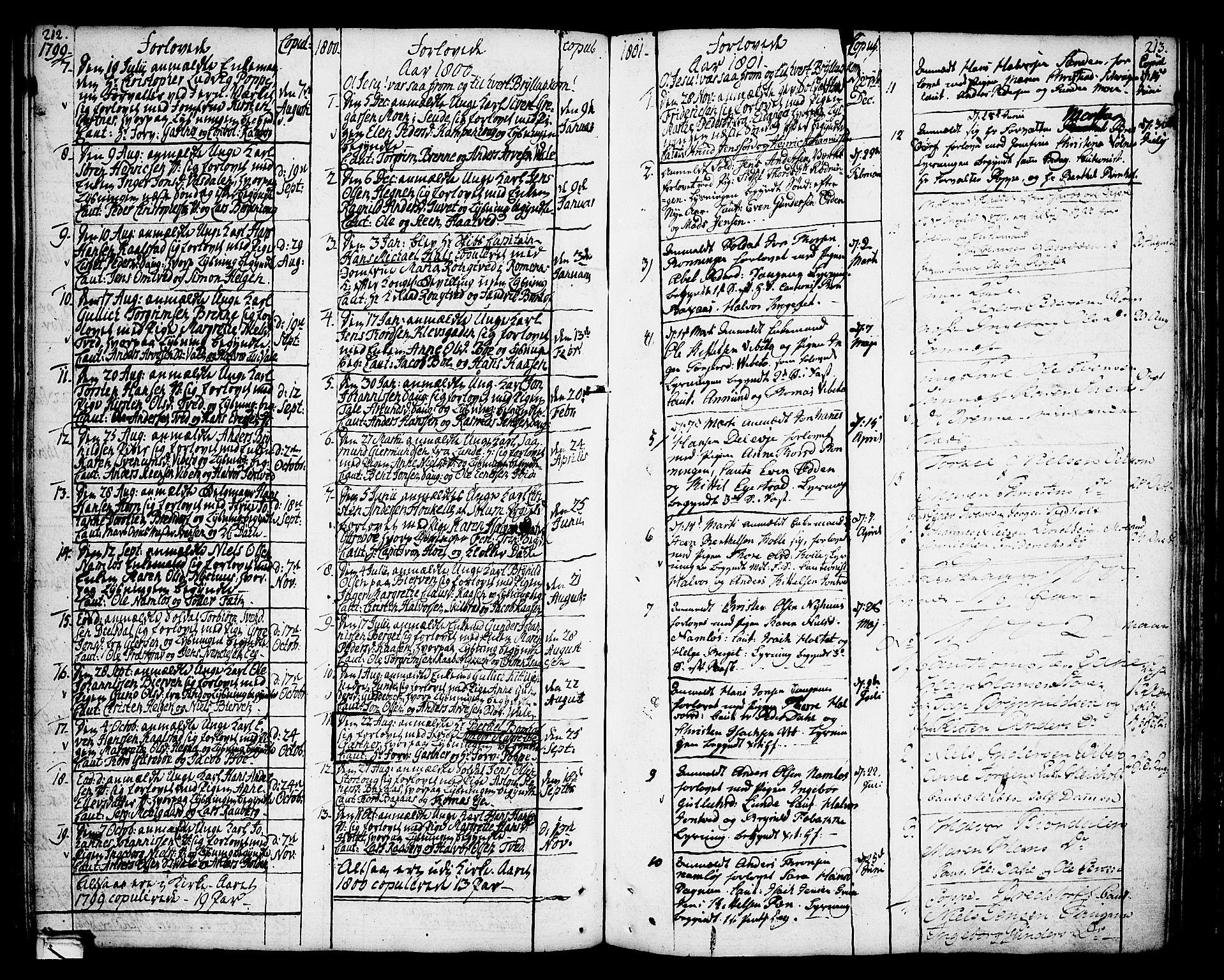 SAKO, Holla kirkebøker, F/Fa/L0002: Ministerialbok nr. 2, 1779-1814, s. 212-213
