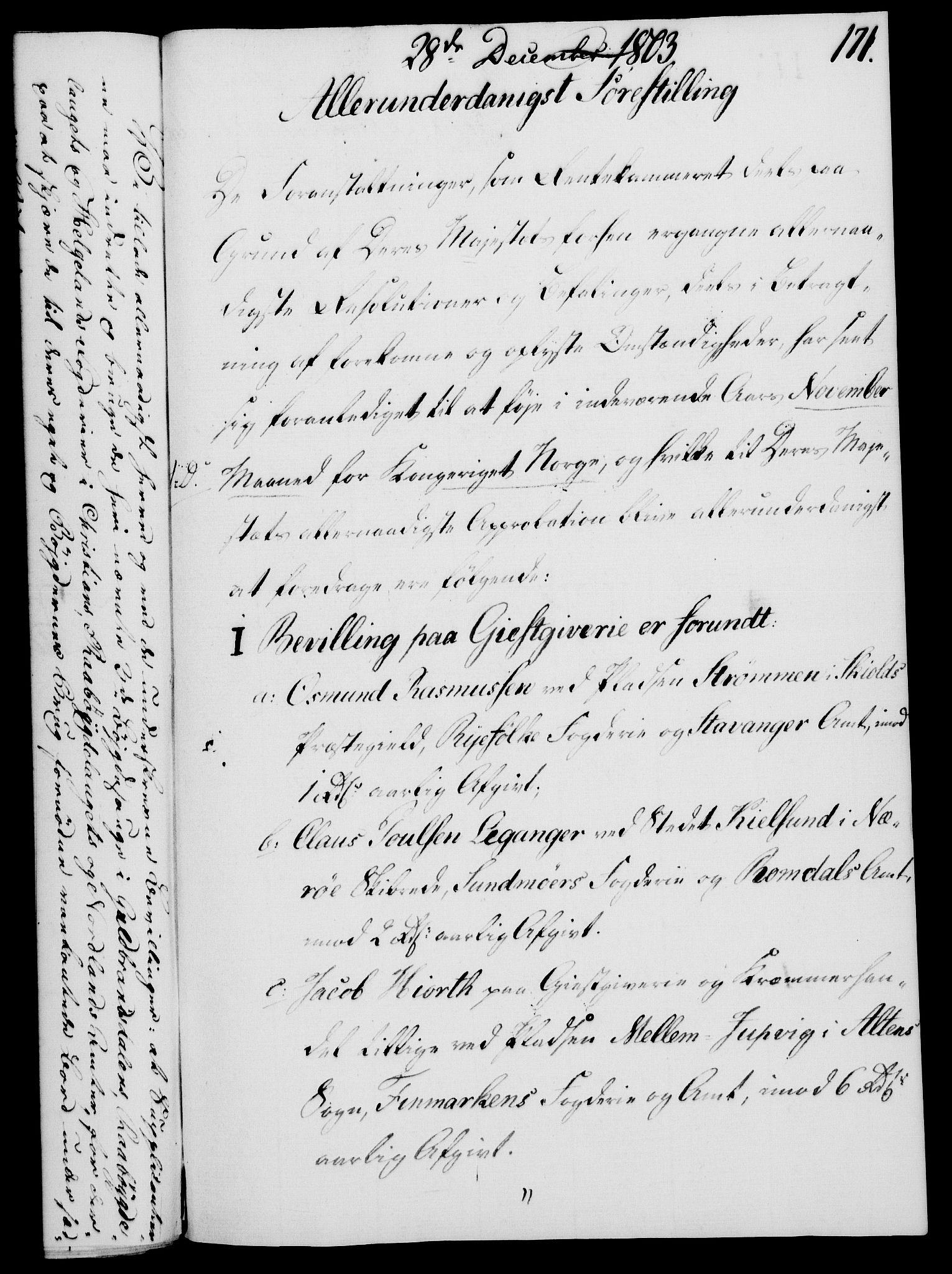 RA, Rentekammeret, Kammerkanselliet, G/Gf/Gfa/L0085: Norsk relasjons- og resolusjonsprotokoll (merket RK 52.85), 1803, s. 955
