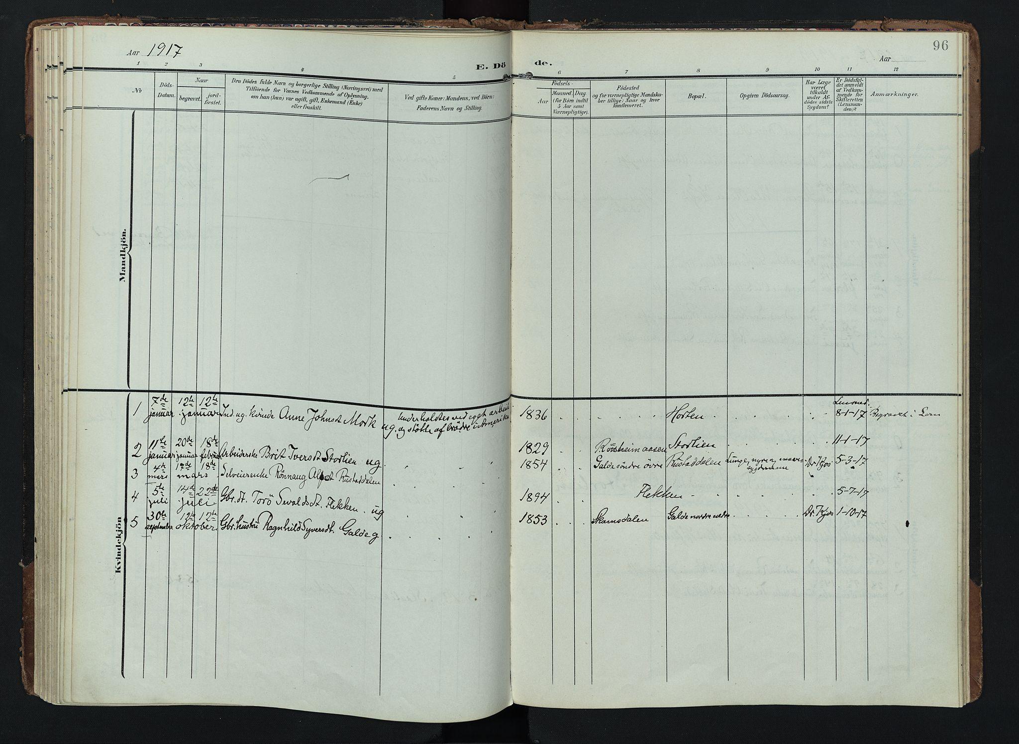SAH, Lom prestekontor, K/L0012: Ministerialbok nr. 12, 1904-1928, s. 96
