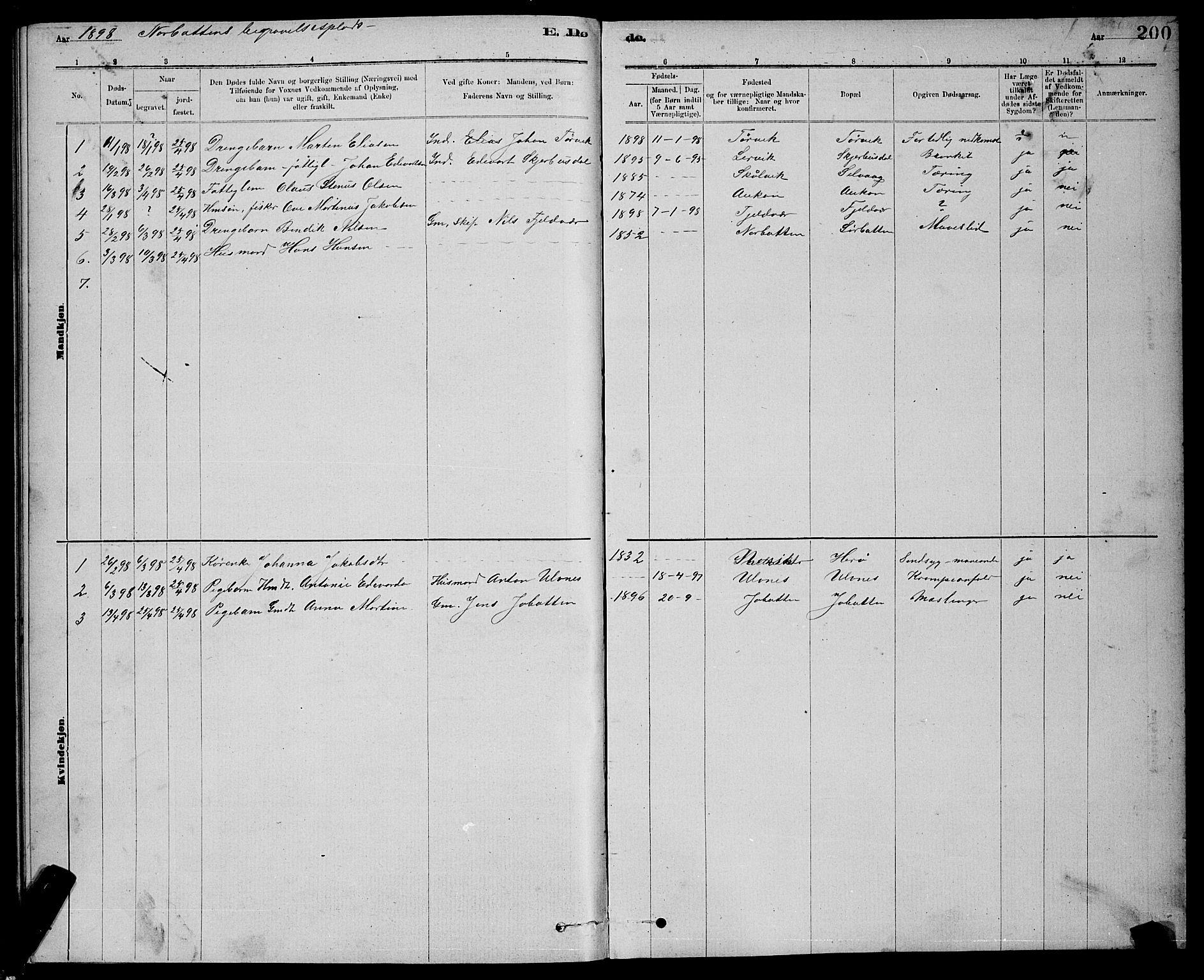SAT, Ministerialprotokoller, klokkerbøker og fødselsregistre - Sør-Trøndelag, 637/L0562: Klokkerbok nr. 637C03, 1883-1898, s. 200