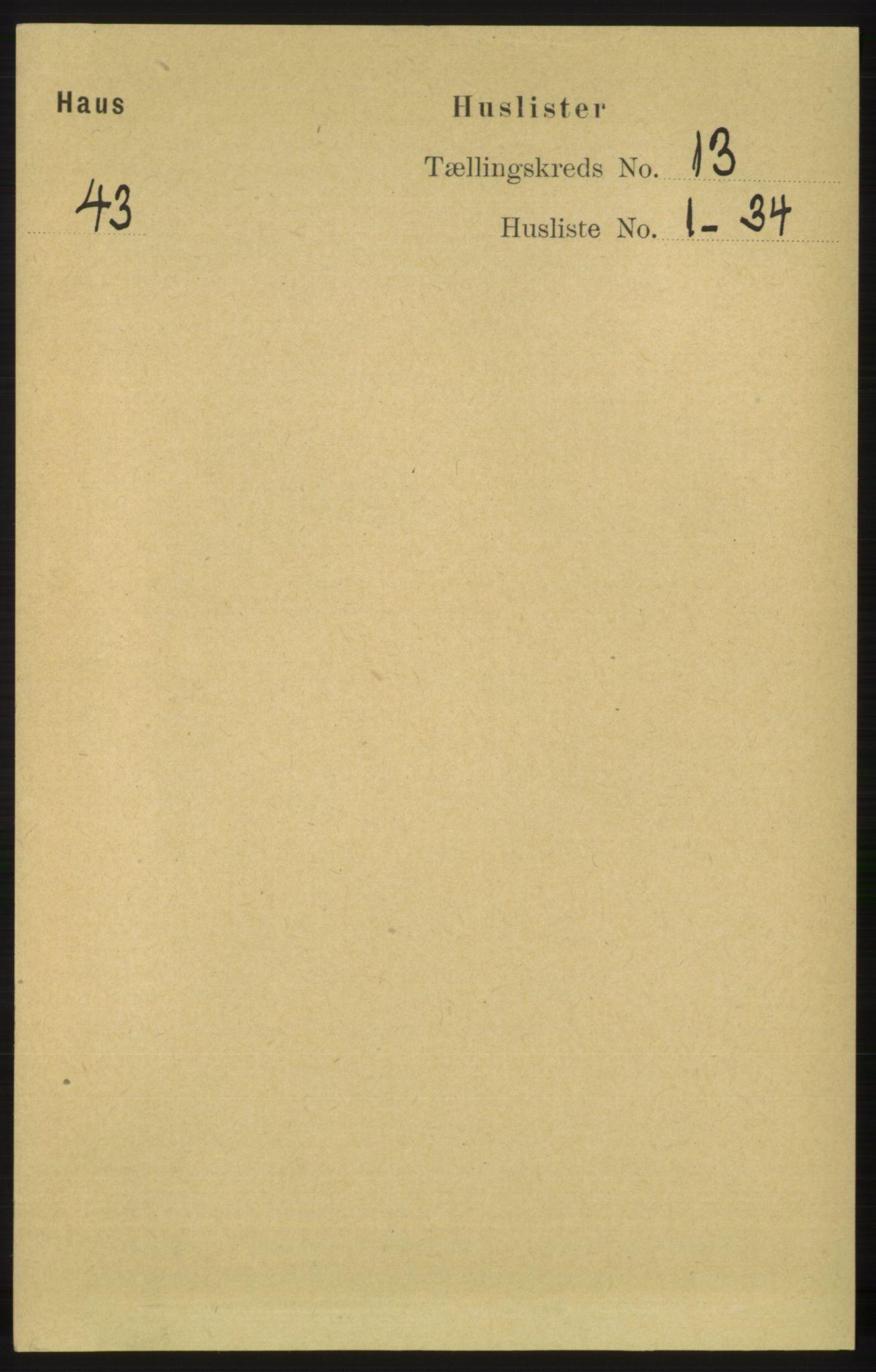 RA, Folketelling 1891 for 1250 Haus herred, 1891, s. 5520
