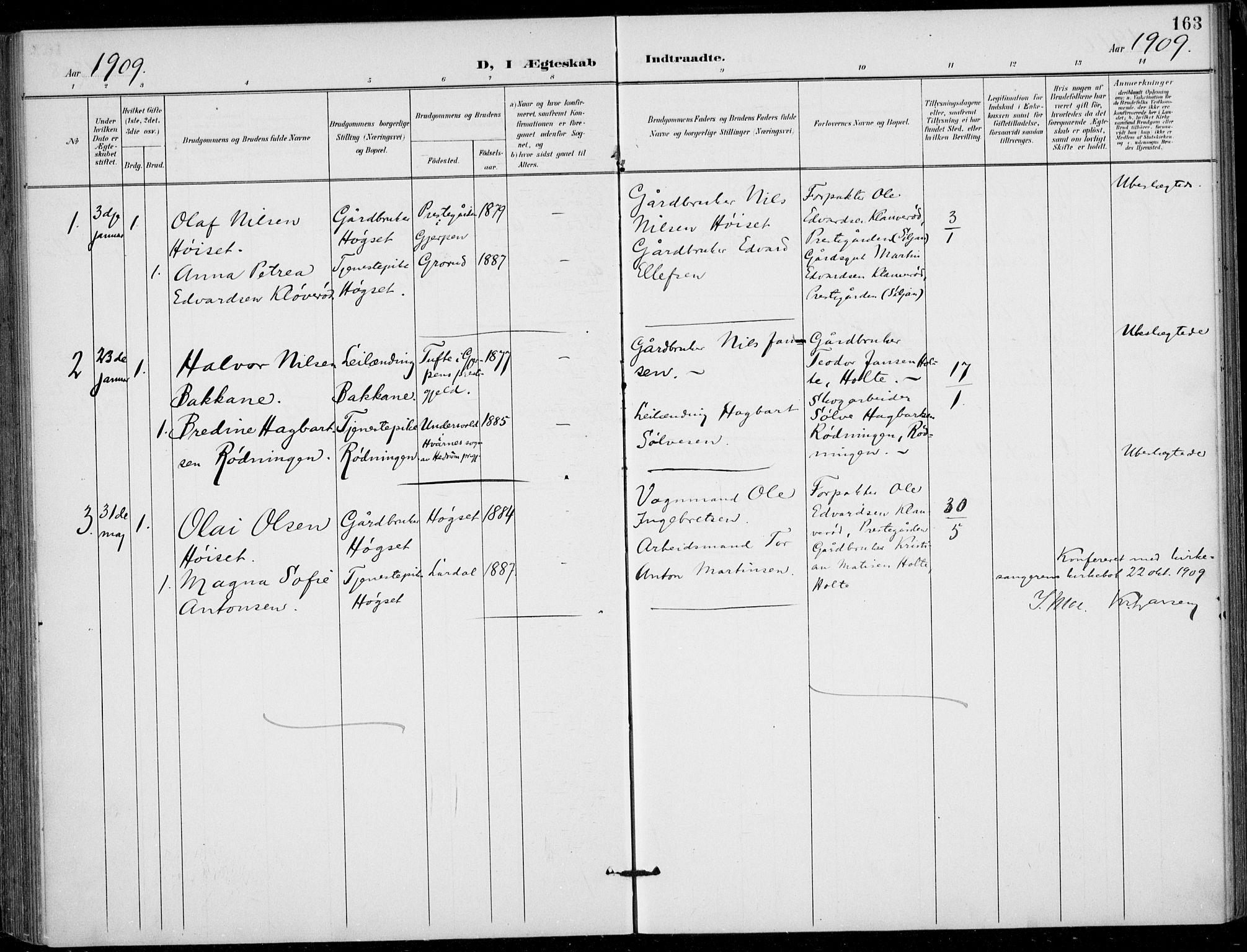 SAKO, Siljan kirkebøker, F/Fa/L0003: Ministerialbok nr. 3, 1896-1910, s. 163