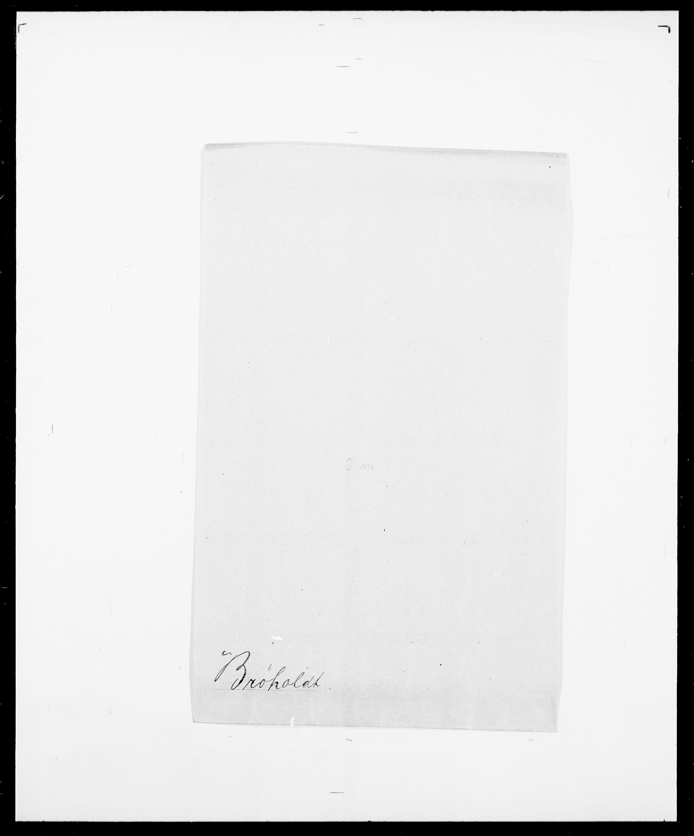 SAO, Delgobe, Charles Antoine - samling, D/Da/L0006: Brambani - Brønø, s. 952