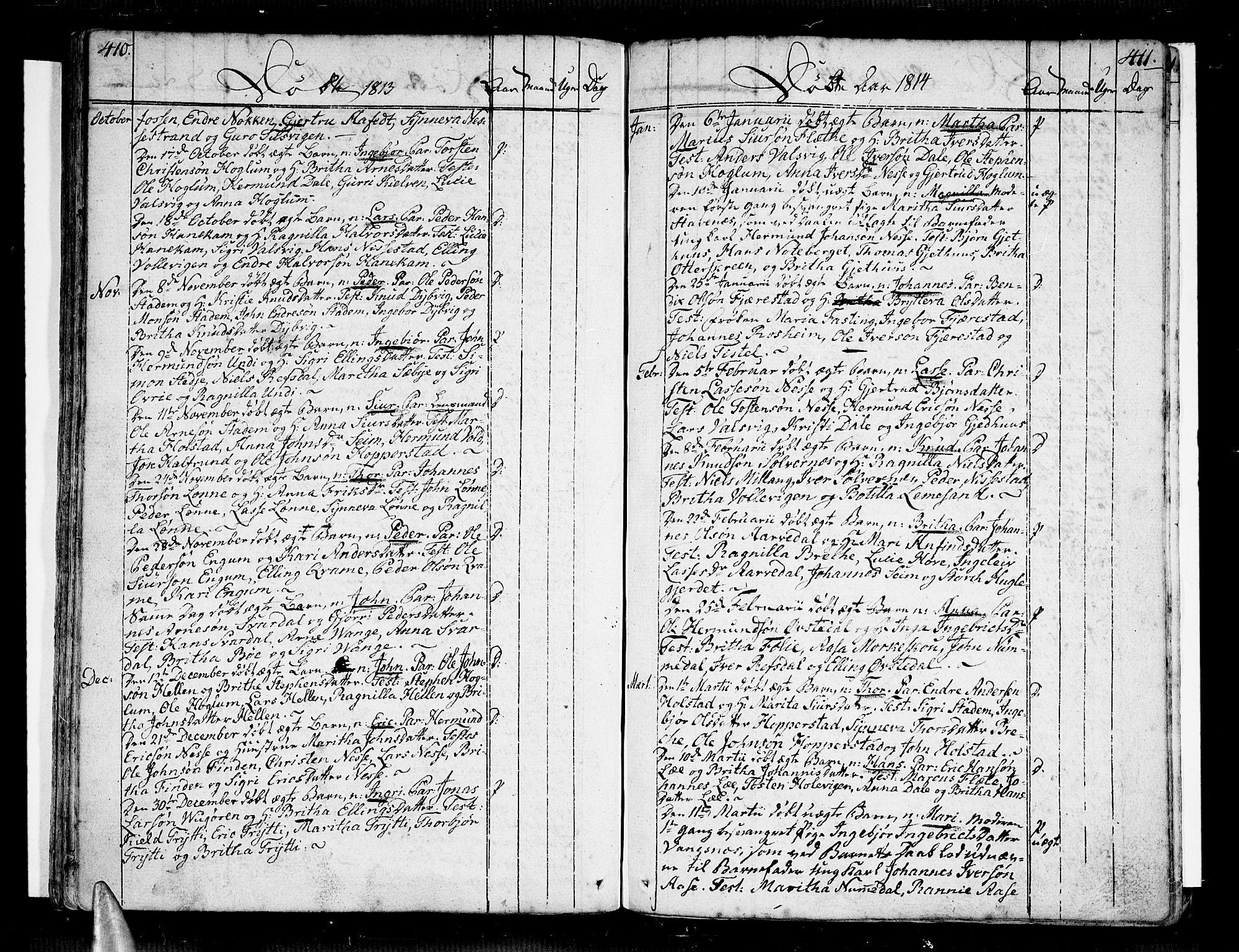SAB, Vik Sokneprestembete, Ministerialbok nr. A 5, 1787-1820, s. 410-411