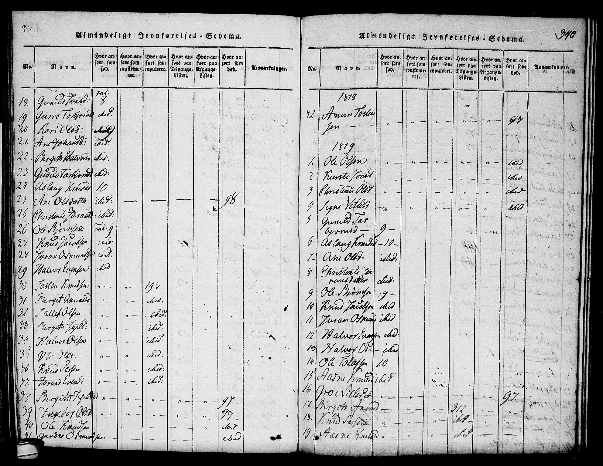 SAKO, Seljord kirkebøker, F/Fc/L0001: Ministerialbok nr. III 1, 1815-1831, s. 340