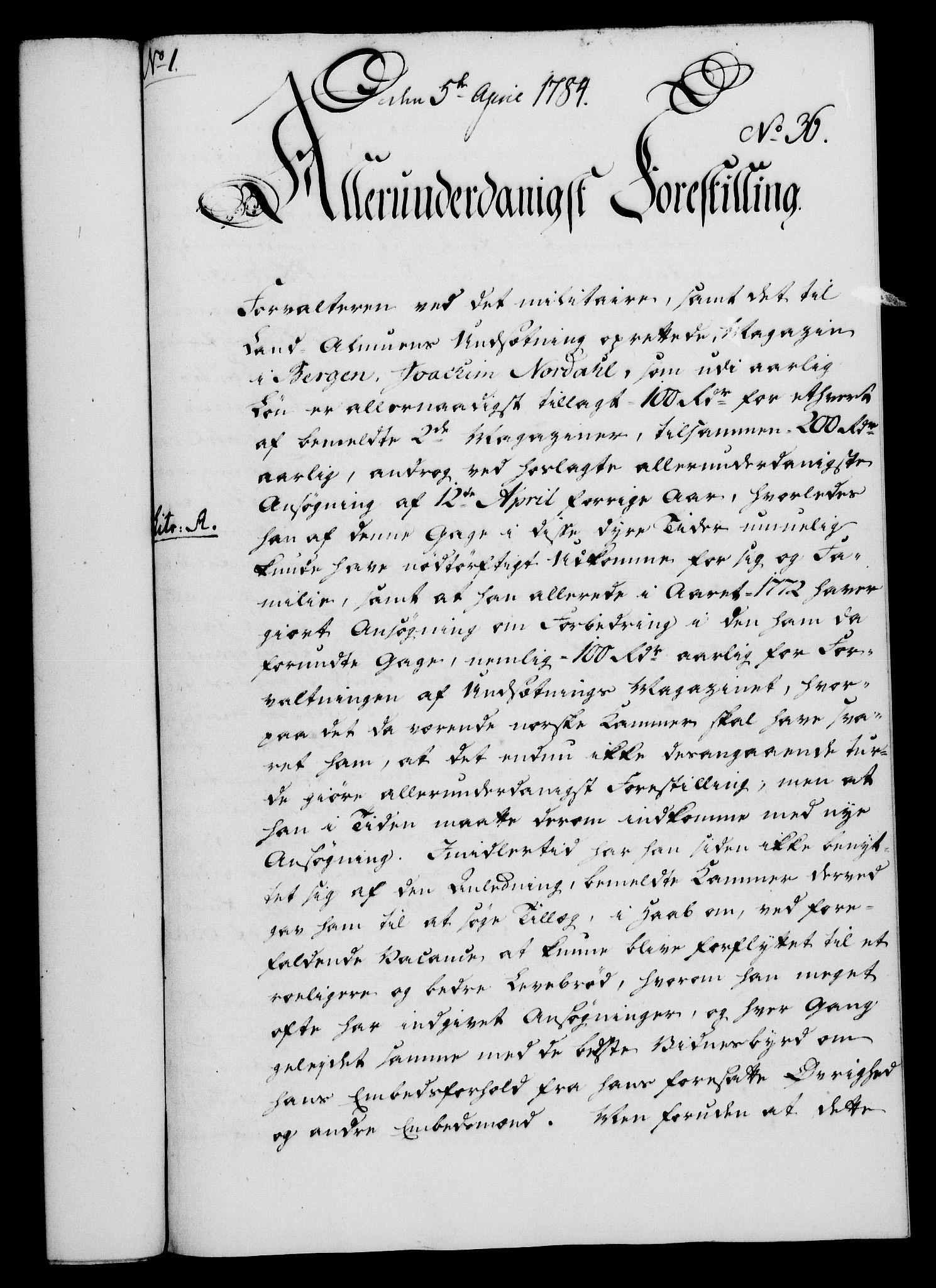 RA, Rentekammeret, Kammerkanselliet, G/Gf/Gfa/L0066: Norsk relasjons- og resolusjonsprotokoll (merket RK 52.66), 1784, s. 319