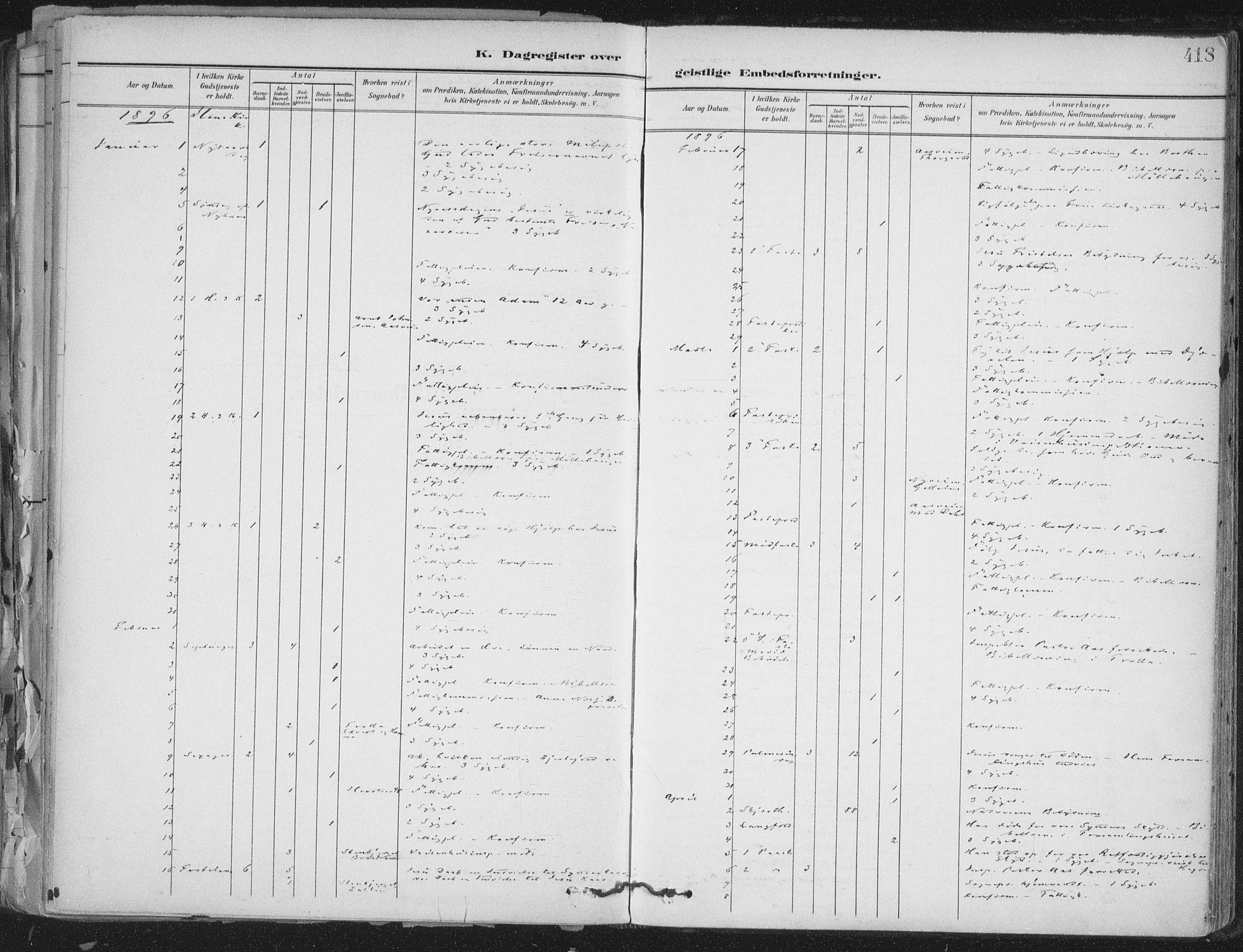 SAT, Ministerialprotokoller, klokkerbøker og fødselsregistre - Sør-Trøndelag, 603/L0167: Ministerialbok nr. 603A06, 1896-1932, s. 418