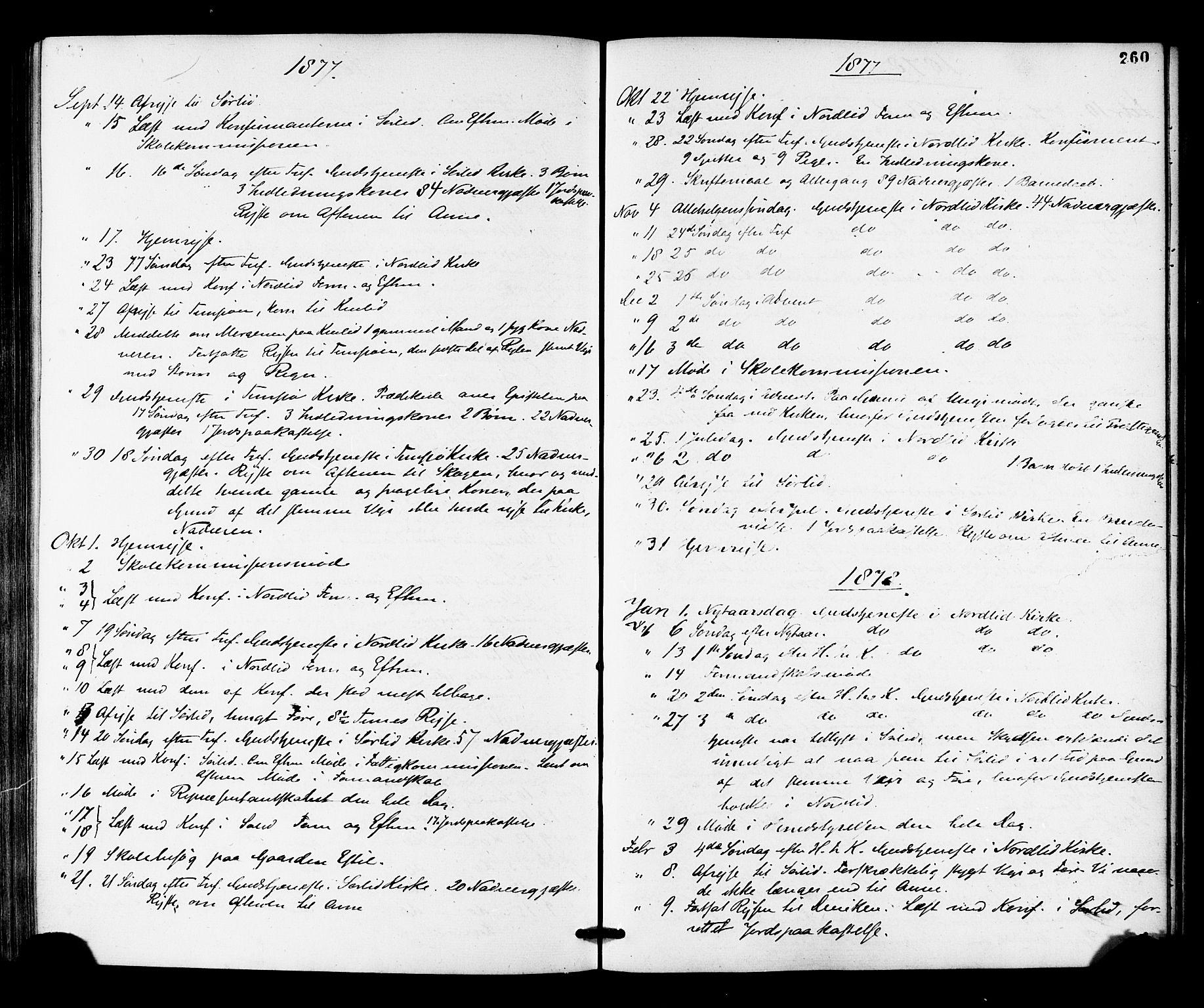 SAT, Ministerialprotokoller, klokkerbøker og fødselsregistre - Nord-Trøndelag, 755/L0493: Ministerialbok nr. 755A02, 1865-1881, s. 260