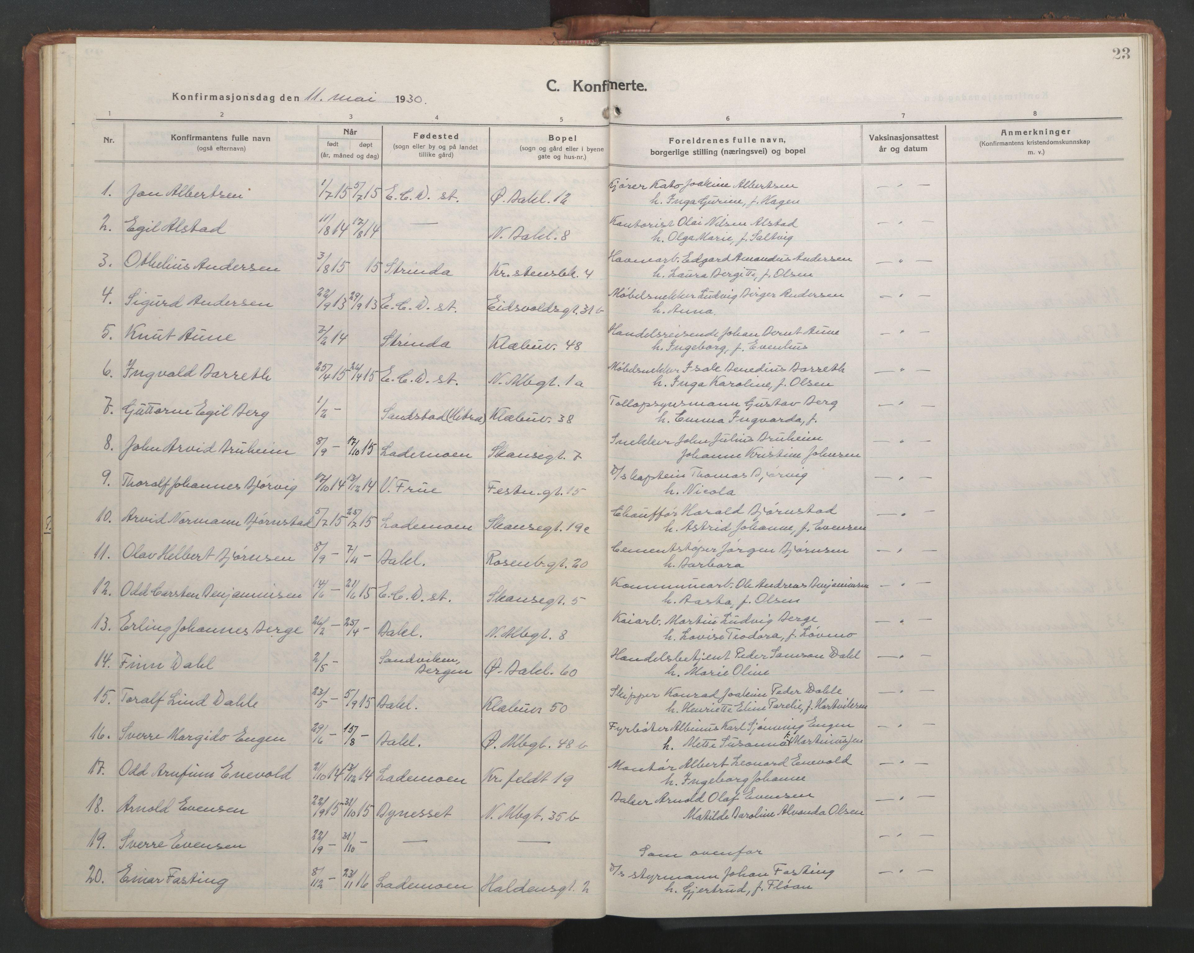 SAT, Ministerialprotokoller, klokkerbøker og fødselsregistre - Sør-Trøndelag, 604/L0228: Klokkerbok nr. 604C11, 1928-1950, s. 23