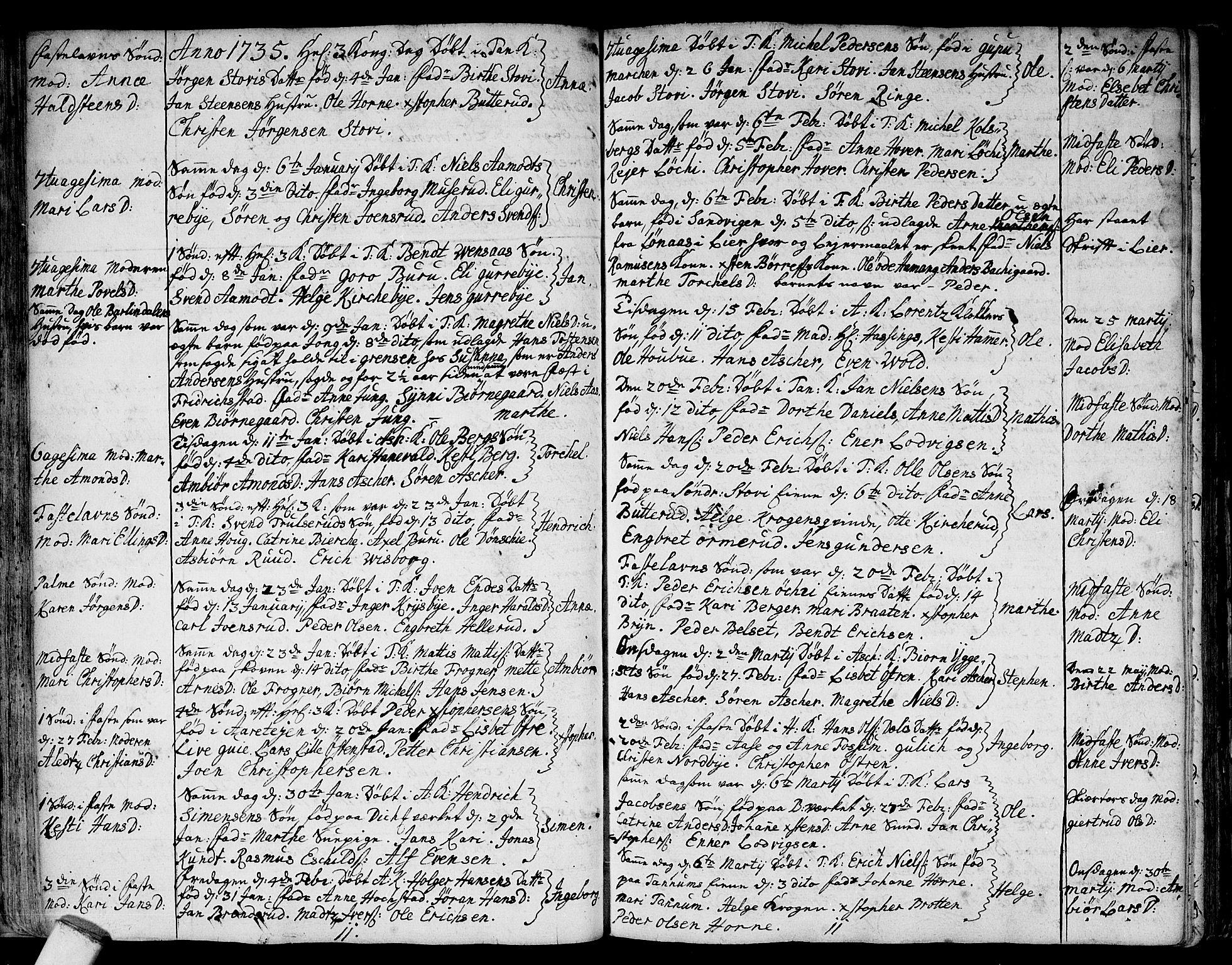 SAO, Asker prestekontor Kirkebøker, F/Fa/L0001: Ministerialbok nr. I 1, 1726-1744, s. 35