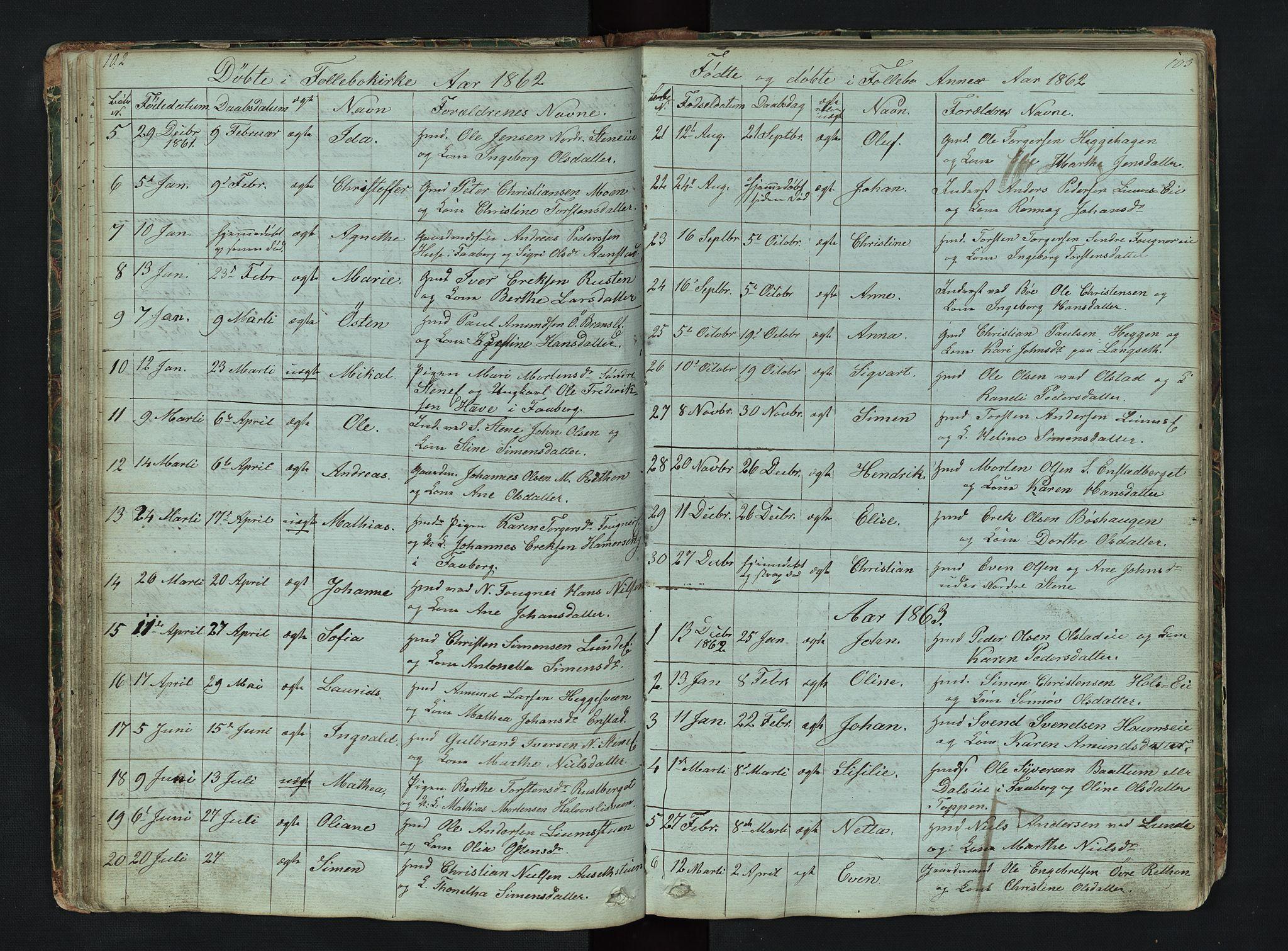SAH, Gausdal prestekontor, Klokkerbok nr. 6, 1846-1893, s. 102-103