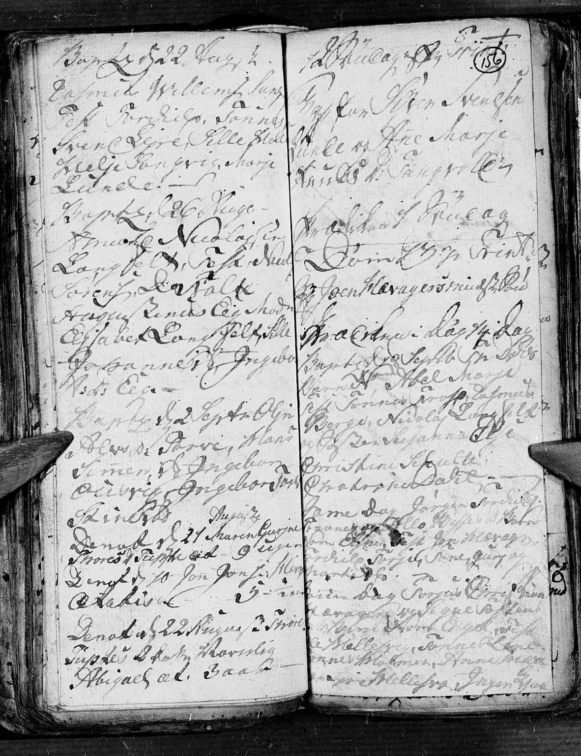 SAK, Søgne sokneprestkontor, F/Fb/Fbb/L0001: Klokkerbok nr. B 1, 1779-1802, s. 156