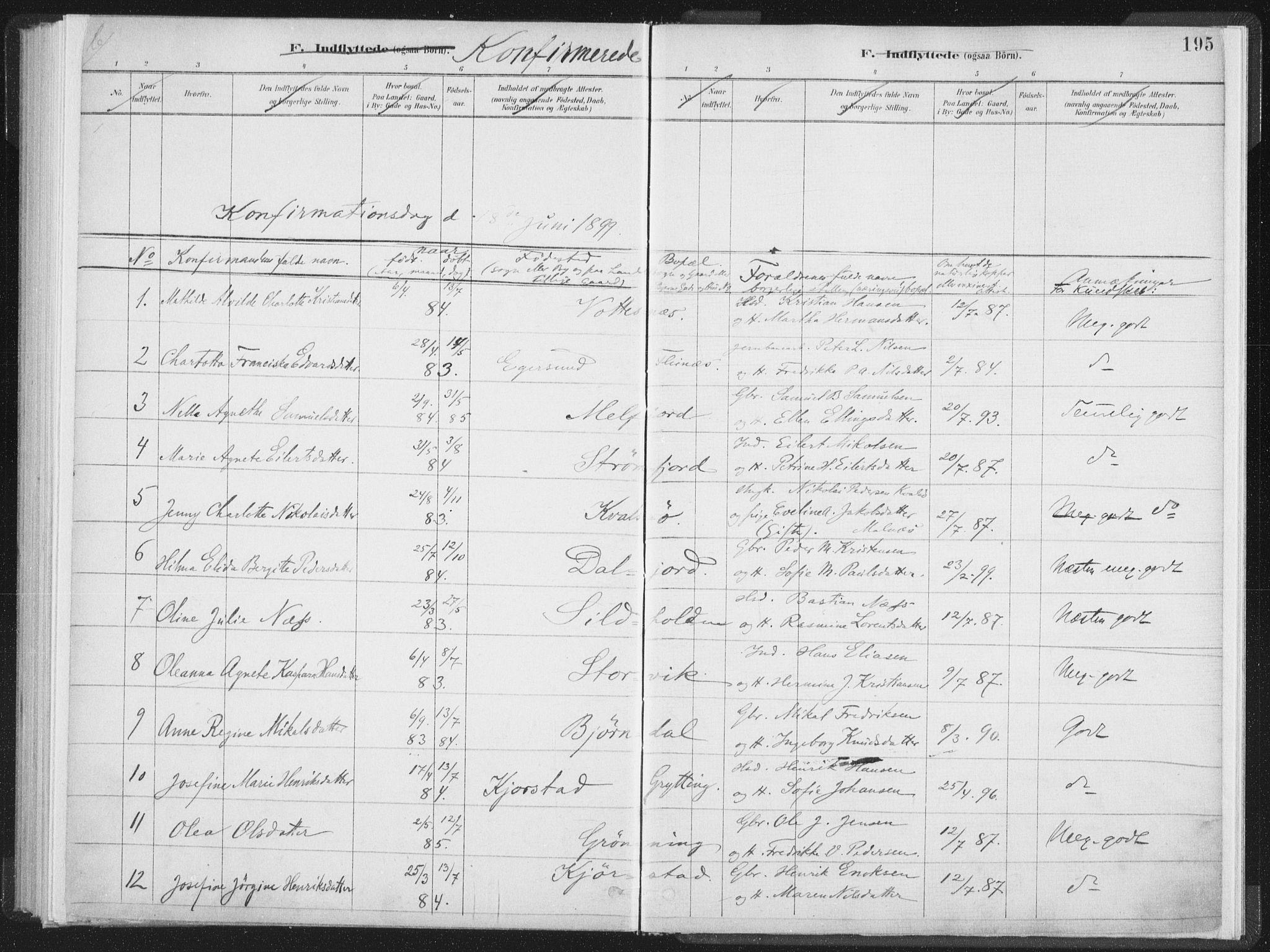 SAT, Ministerialprotokoller, klokkerbøker og fødselsregistre - Nordland, 890/L1286: Ministerialbok nr. 890A01, 1882-1902, s. 195