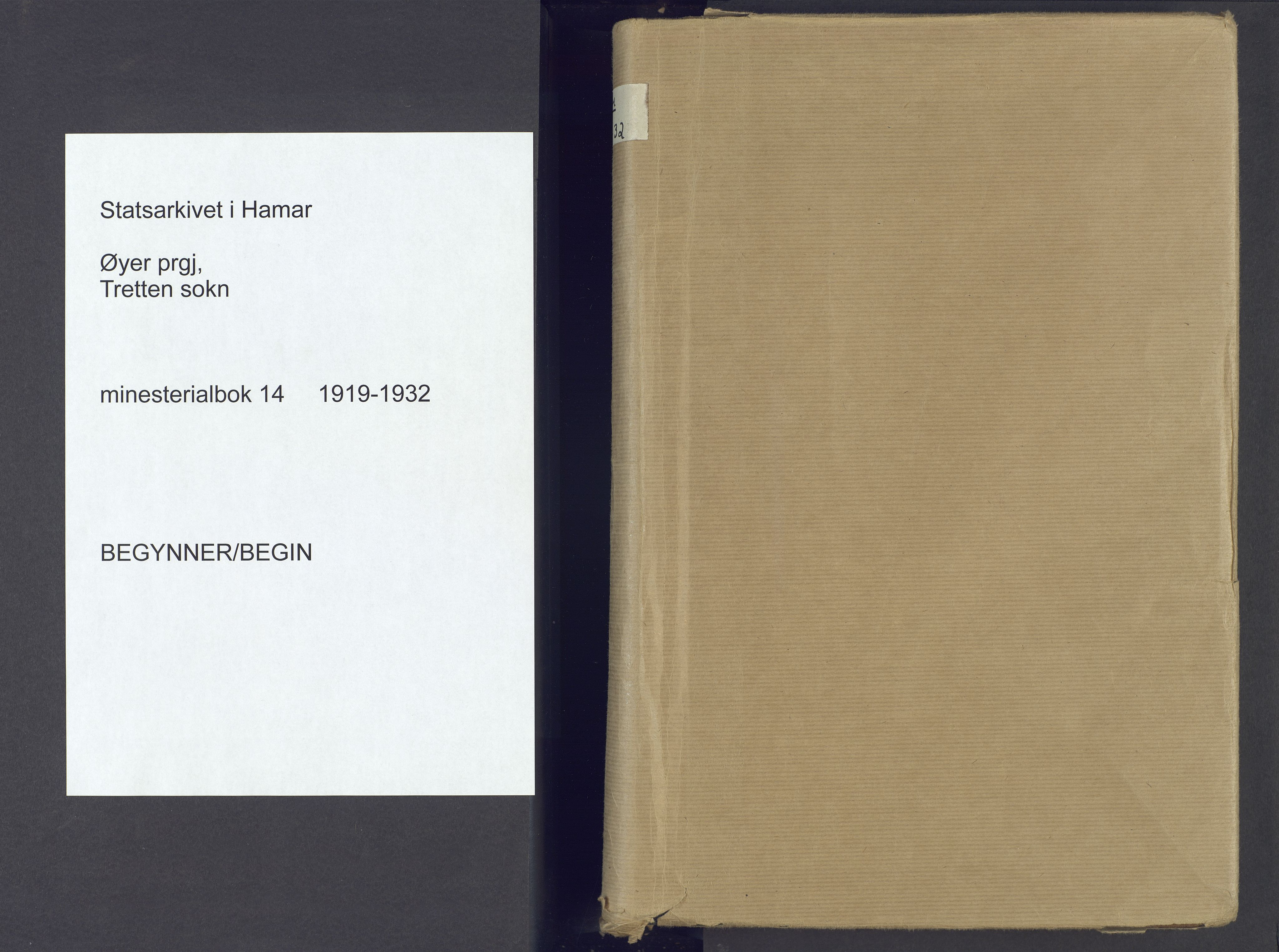 SAH, Øyer prestekontor, Ministerialbok nr. 14, 1919-1932