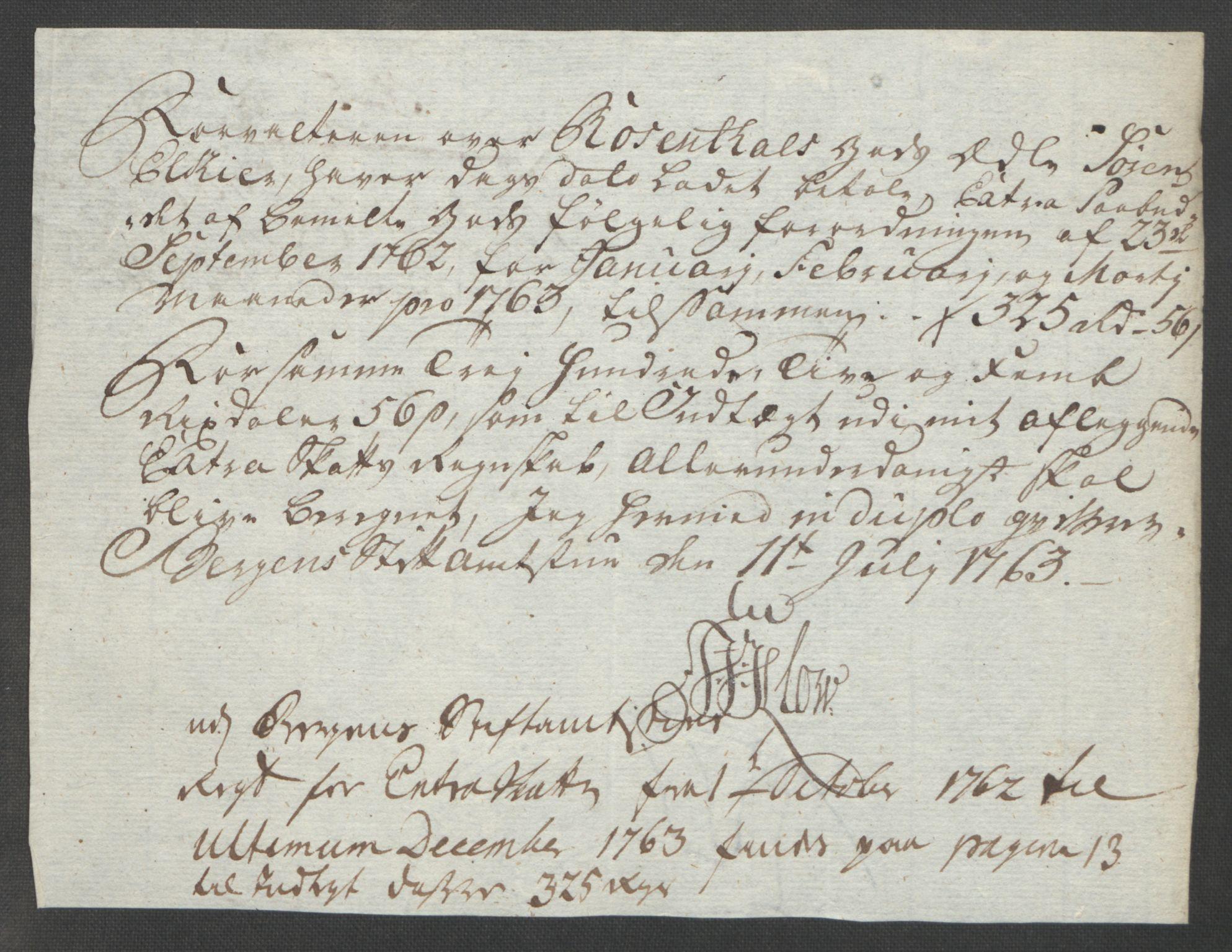 RA, Rentekammeret inntil 1814, Reviderte regnskaper, Fogderegnskap, R49/L3157: Ekstraskatten Rosendal Baroni, 1762-1772, s. 51