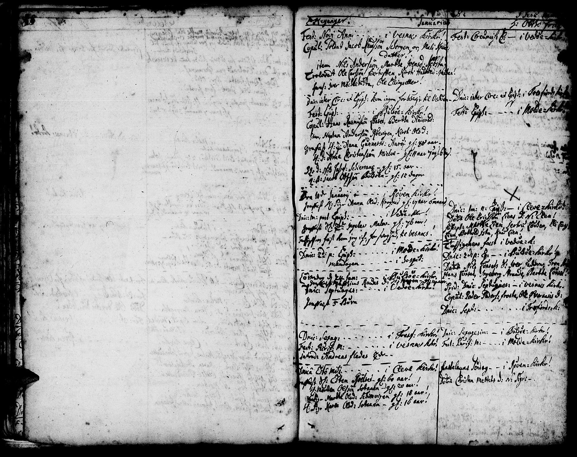 SAT, Ministerialprotokoller, klokkerbøker og fødselsregistre - Møre og Romsdal, 547/L0599: Ministerialbok nr. 547A01, 1721-1764, s. 90-91