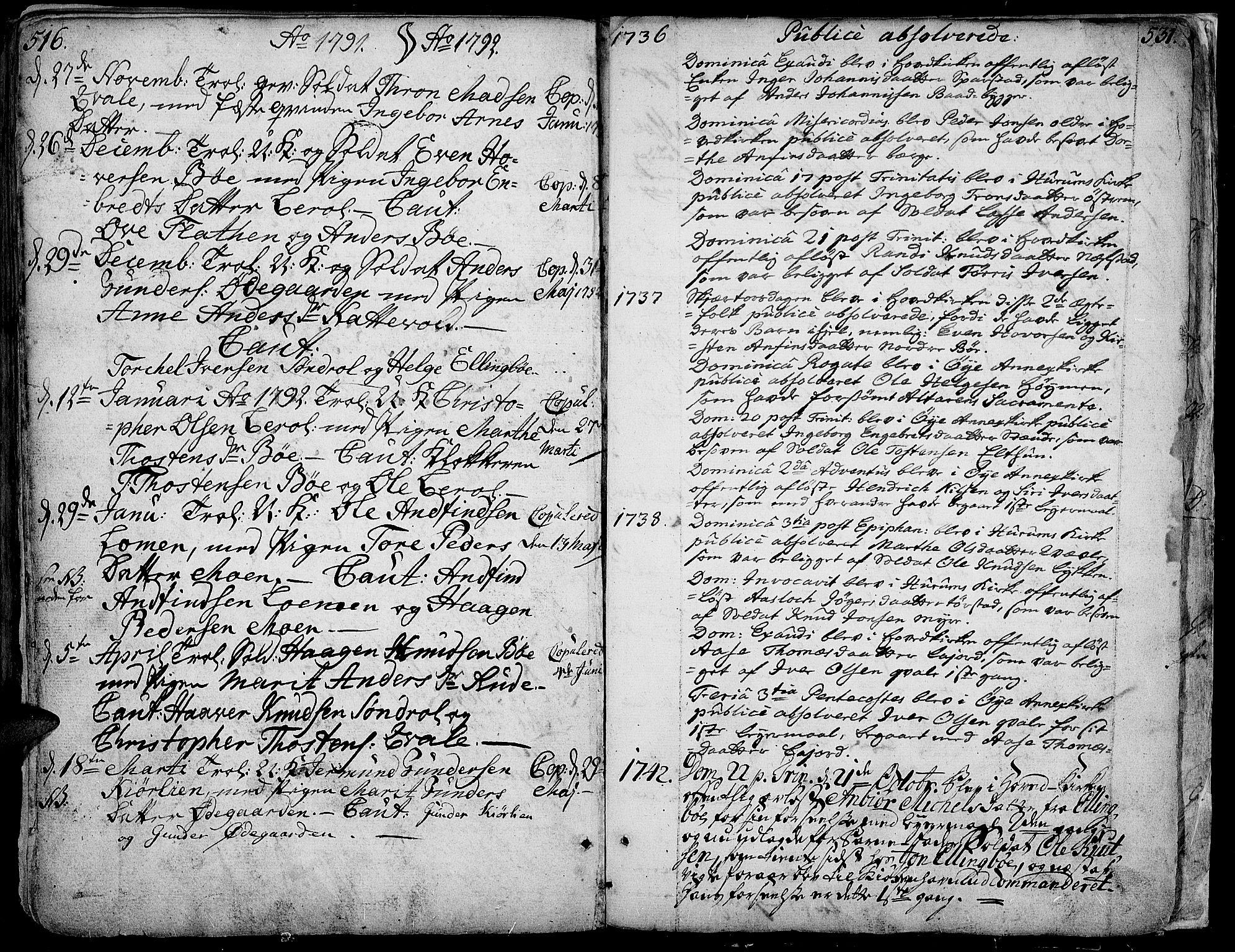 SAH, Vang prestekontor, Valdres, Ministerialbok nr. 1, 1730-1796, s. 516-531