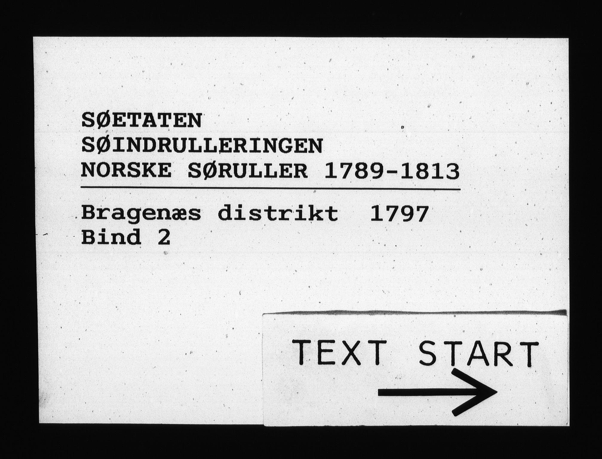 RA, Sjøetaten, F/L0121: Bragernes distrikt, bind 2, 1797