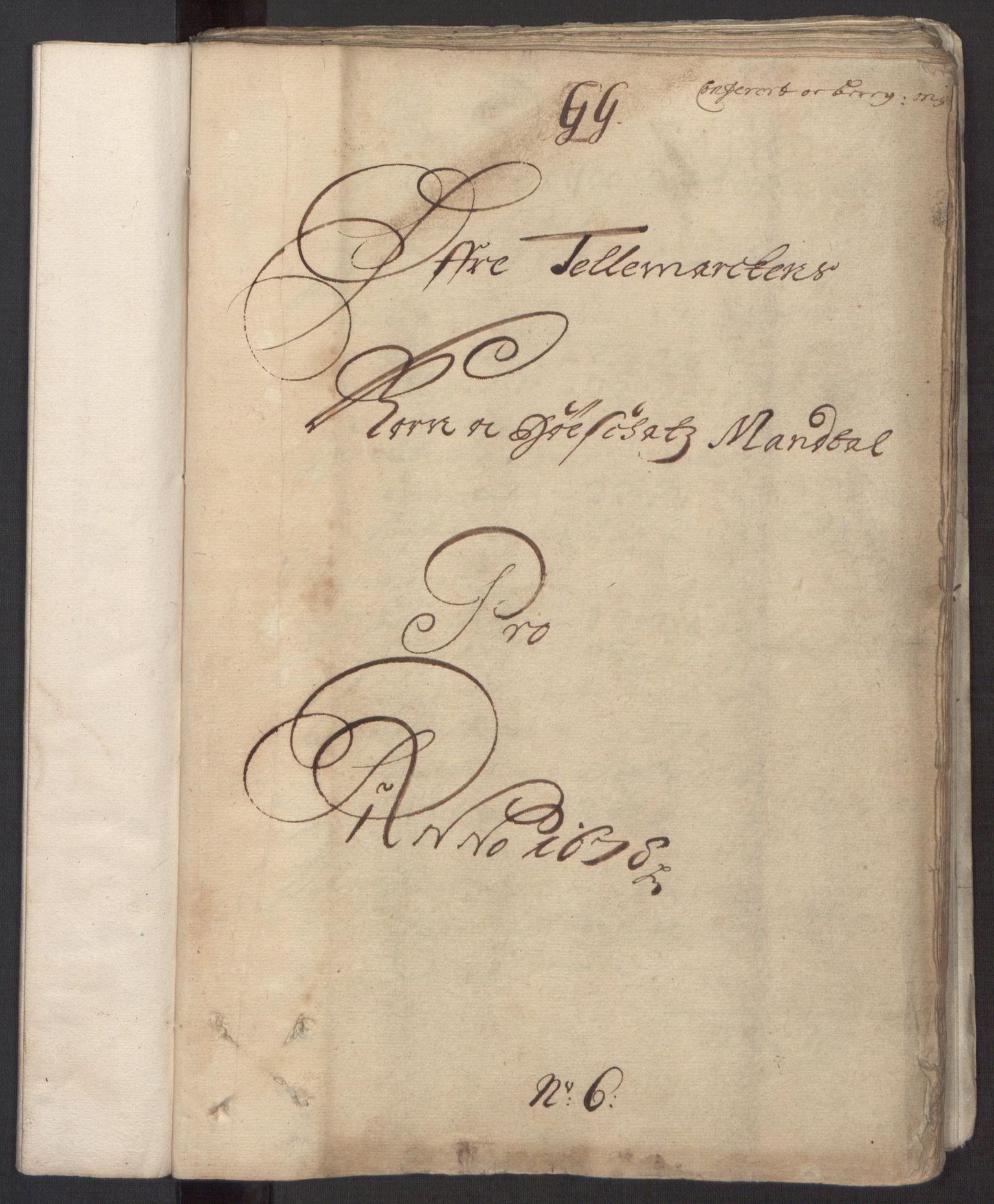 RA, Rentekammeret inntil 1814, Reviderte regnskaper, Fogderegnskap, R35/L2071: Fogderegnskap Øvre og Nedre Telemark, 1678, s. 83