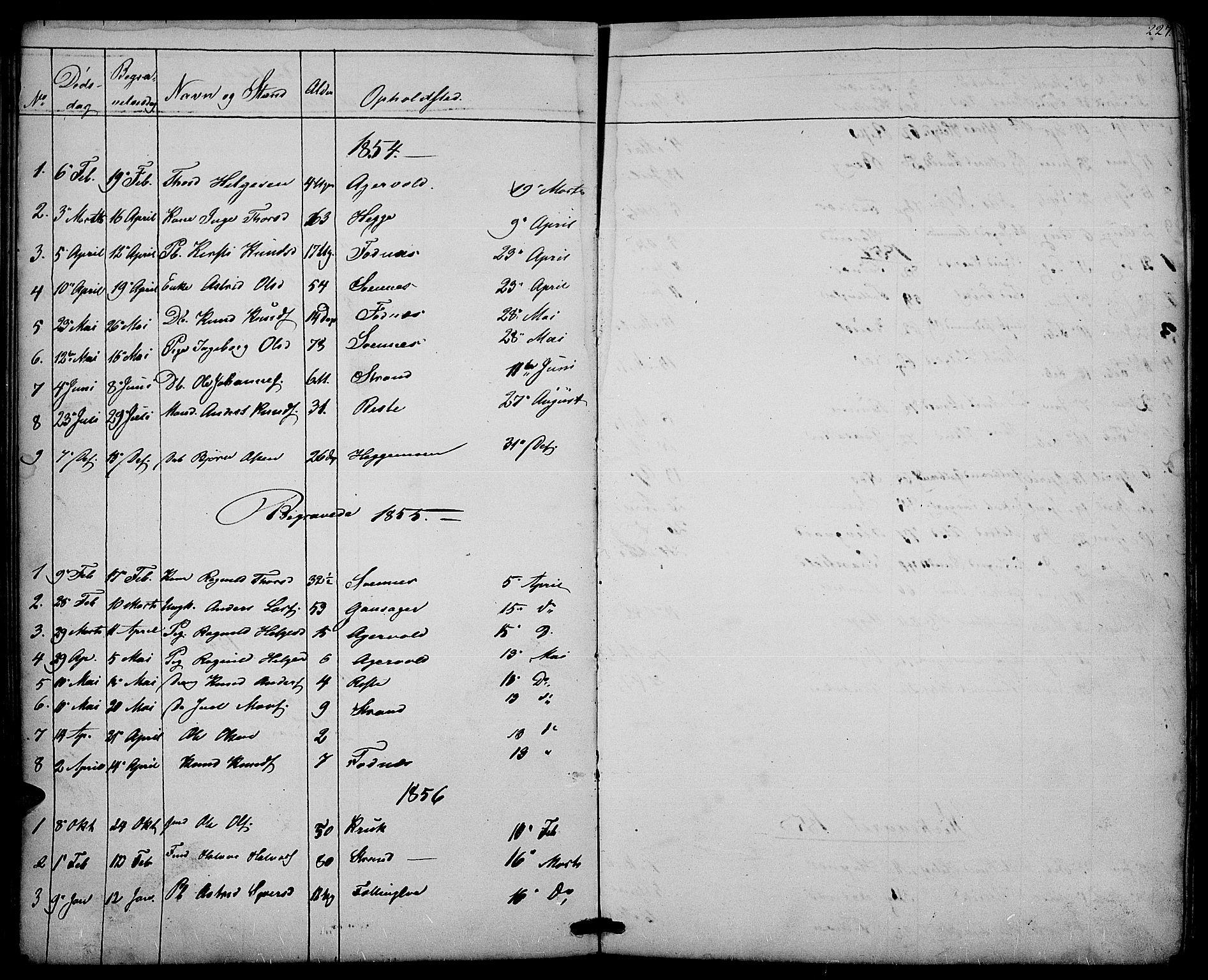 SAH, Nord-Aurdal prestekontor, Klokkerbok nr. 3, 1842-1882, s. 227